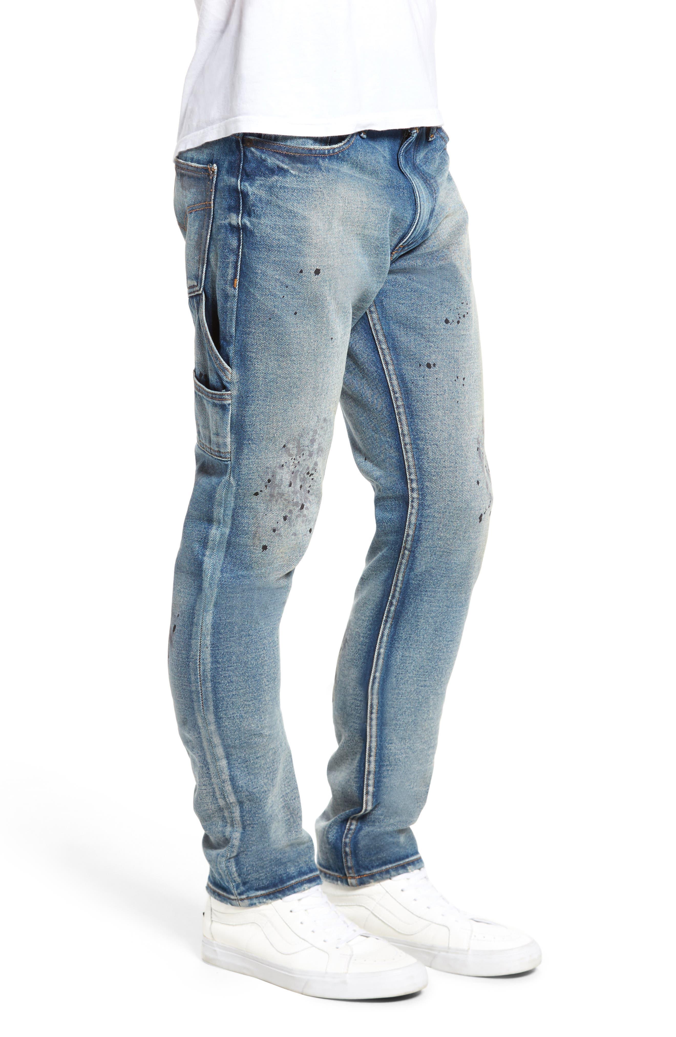 Carpenter Slim Fit Jeans,                             Alternate thumbnail 3, color,                             492