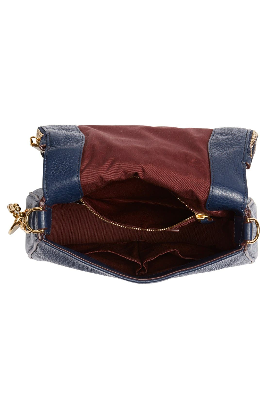 Small Recruit Nomad Pebbled Leather Crossbody Bag,                             Alternate thumbnail 49, color,