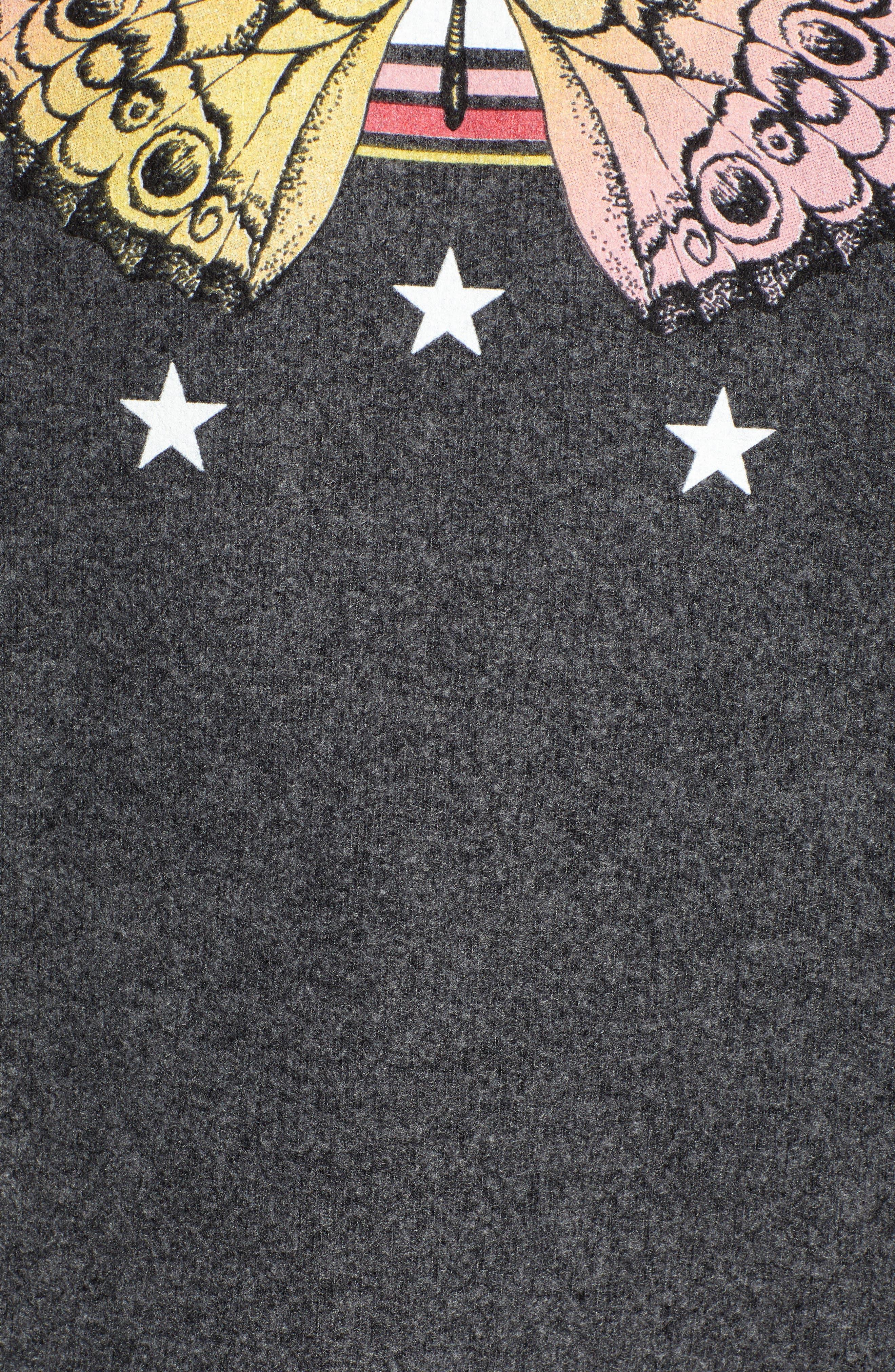Sommers Papillion Sweatshirt,                             Alternate thumbnail 5, color,                             002