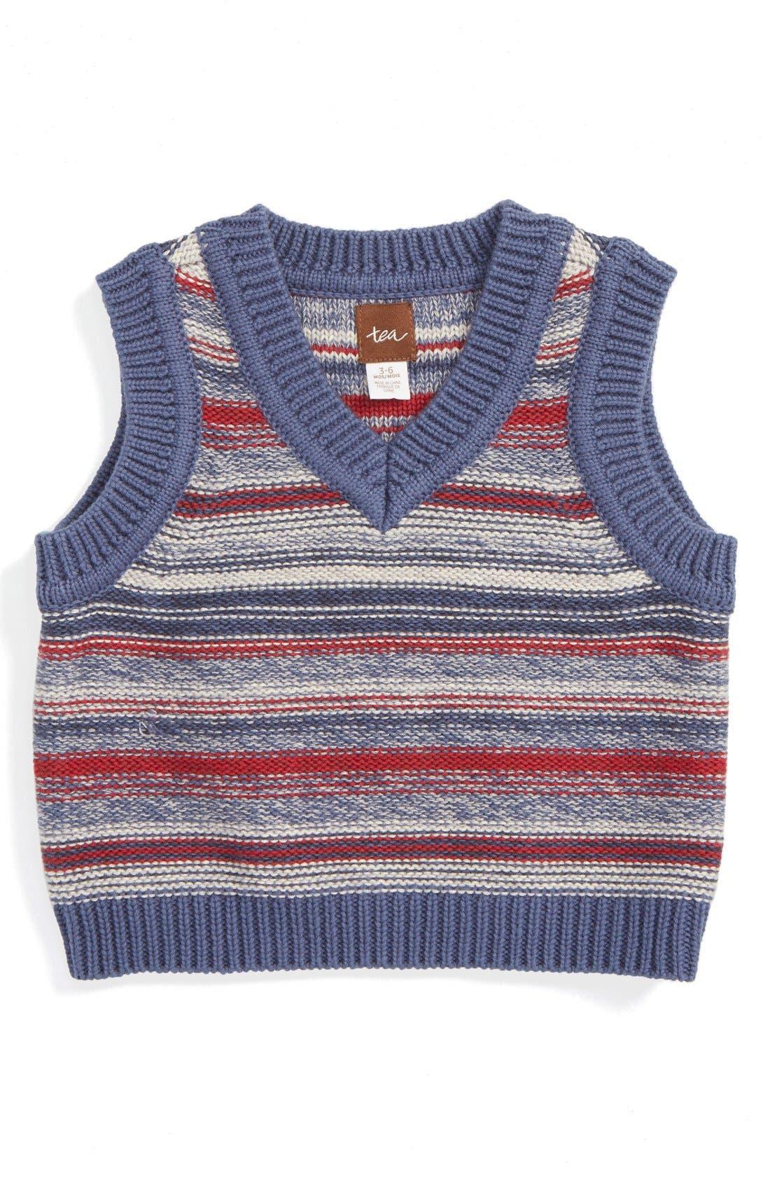 TEA COLLECTION,                             Haru Sweater Vest,                             Main thumbnail 1, color,                             498