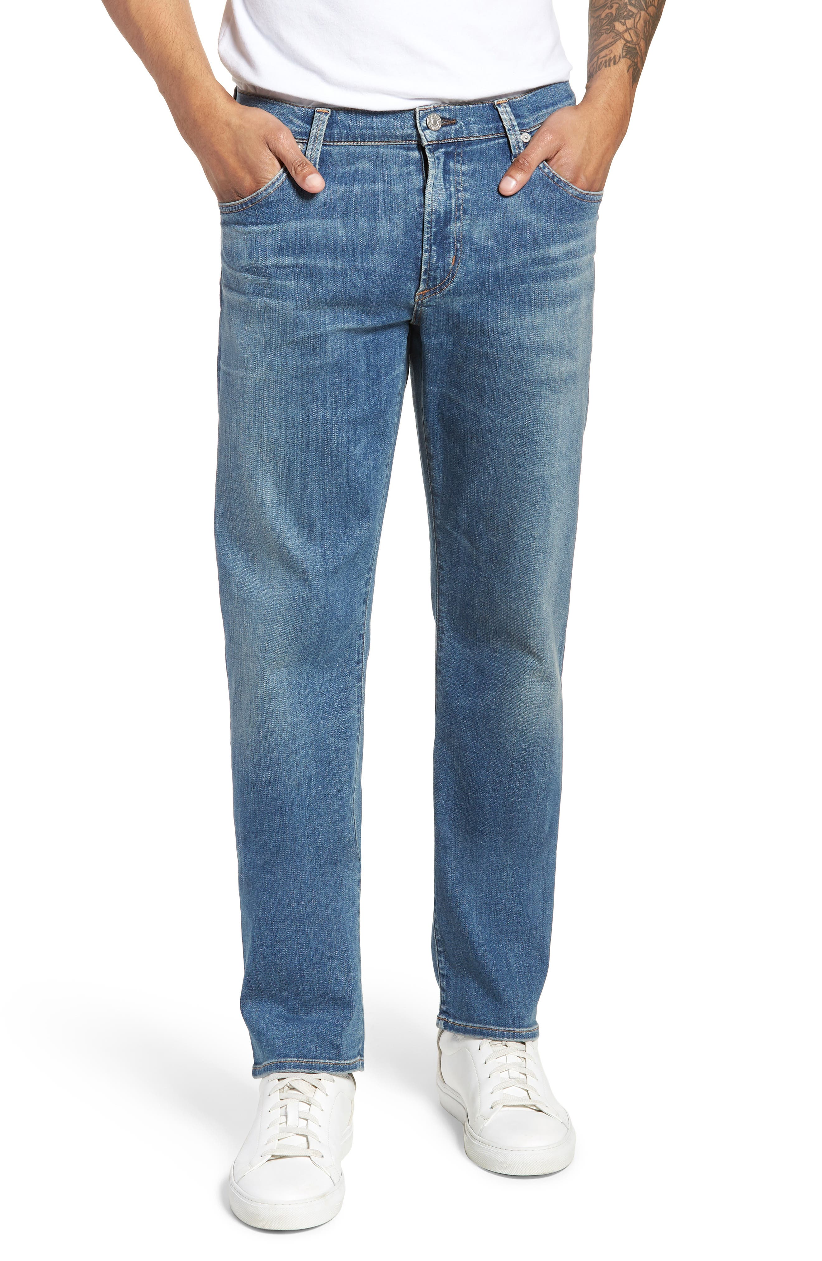 Perform - Gage Slim Straight Leg Jeans,                             Main thumbnail 1, color,                             456