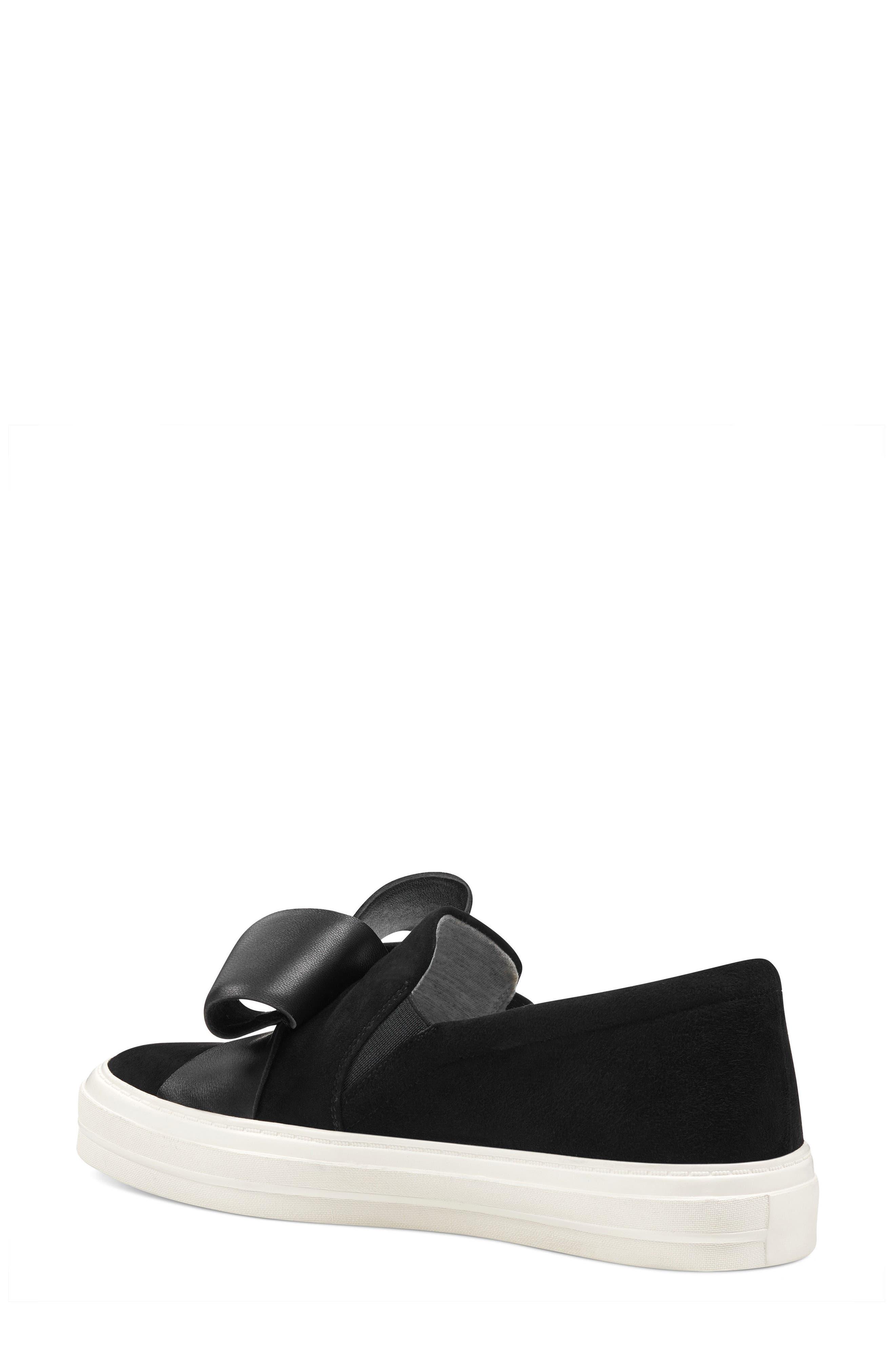 Odienella Slip-On Sneaker,                             Alternate thumbnail 2, color,                             BLACK MULTI SUEDE