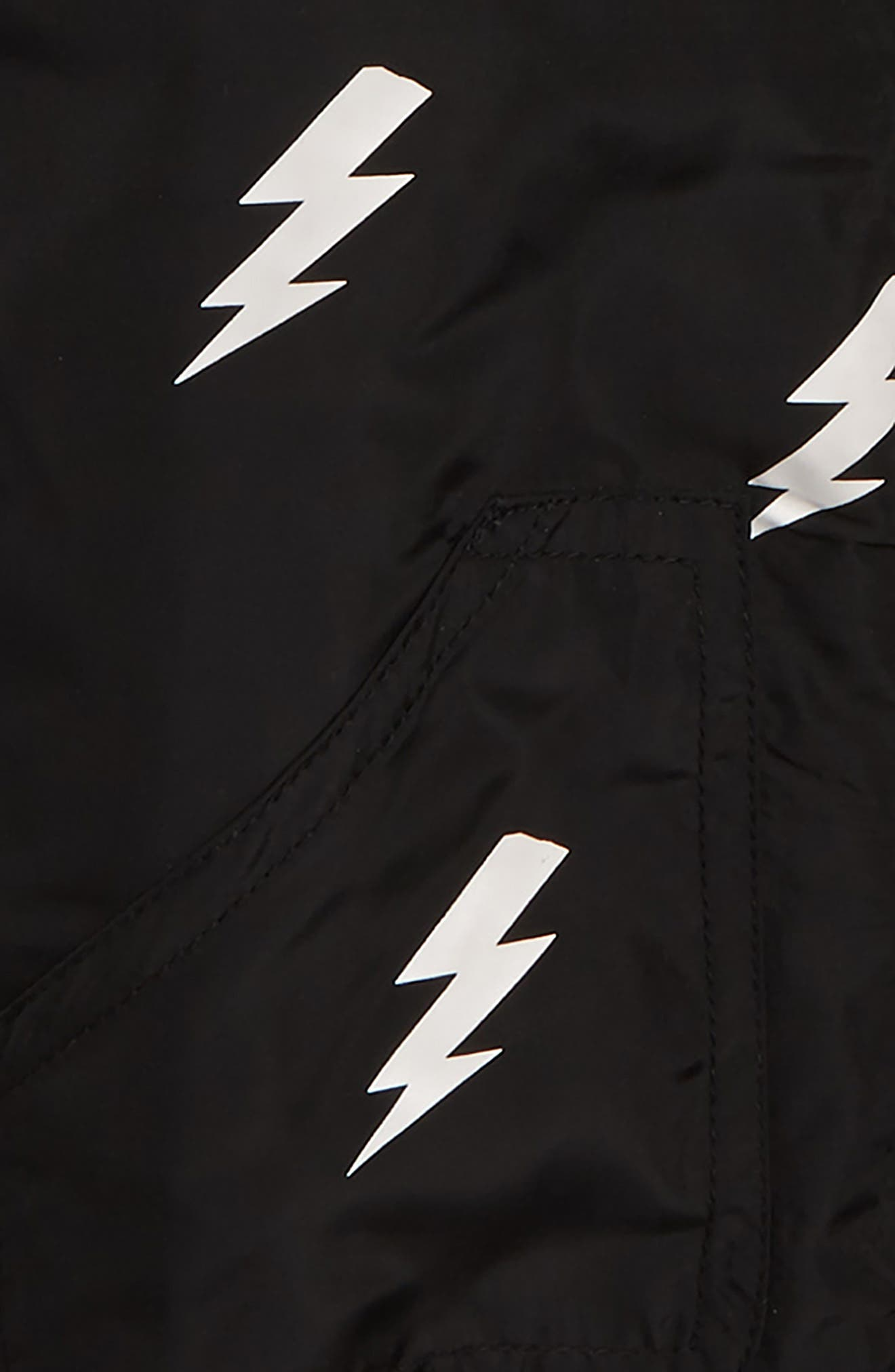 Lightning Bomber Jacket,                             Alternate thumbnail 2, color,                             BLACK