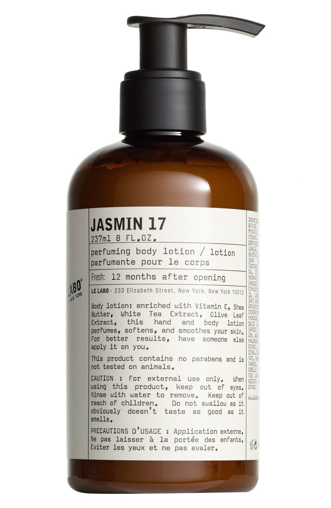 'Jasmin 17' Hand & Body Lotion,                             Main thumbnail 1, color,                             NO COLOR