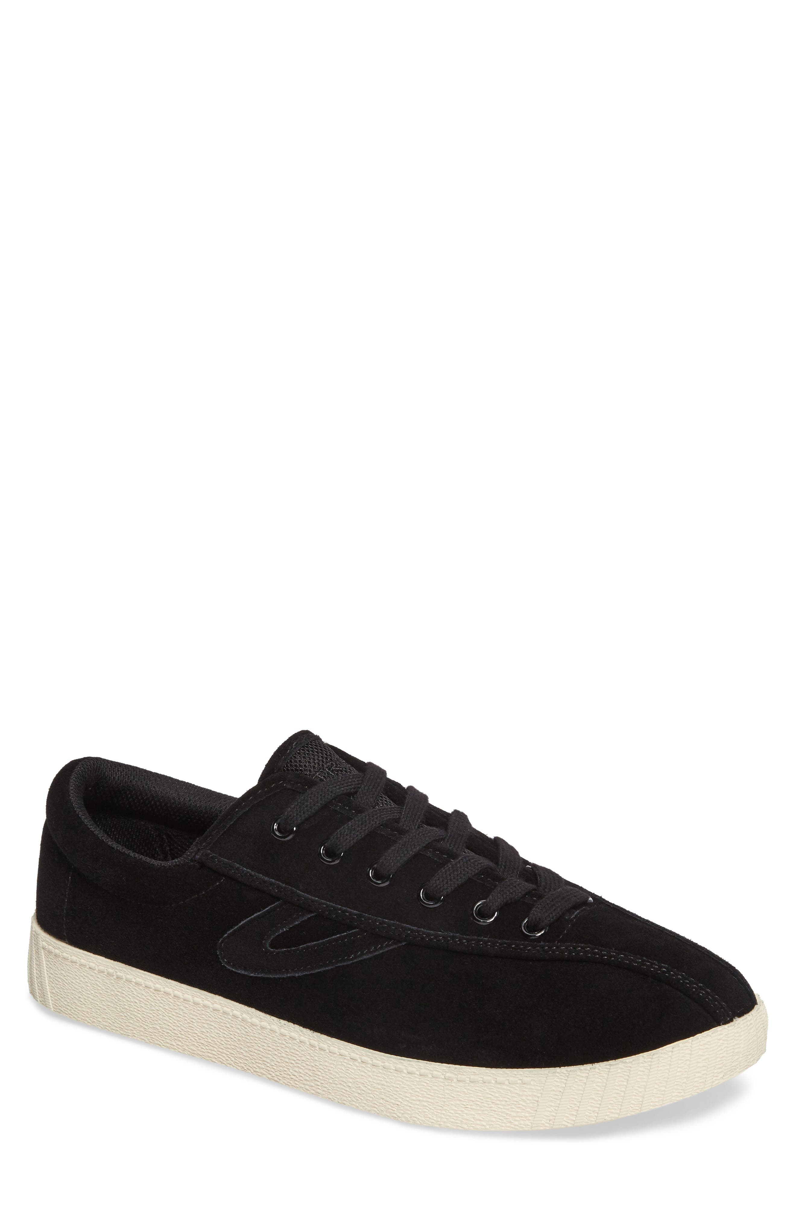 Nylite 16 Sneaker,                         Main,                         color, BLACK/ BLACK SUEDE