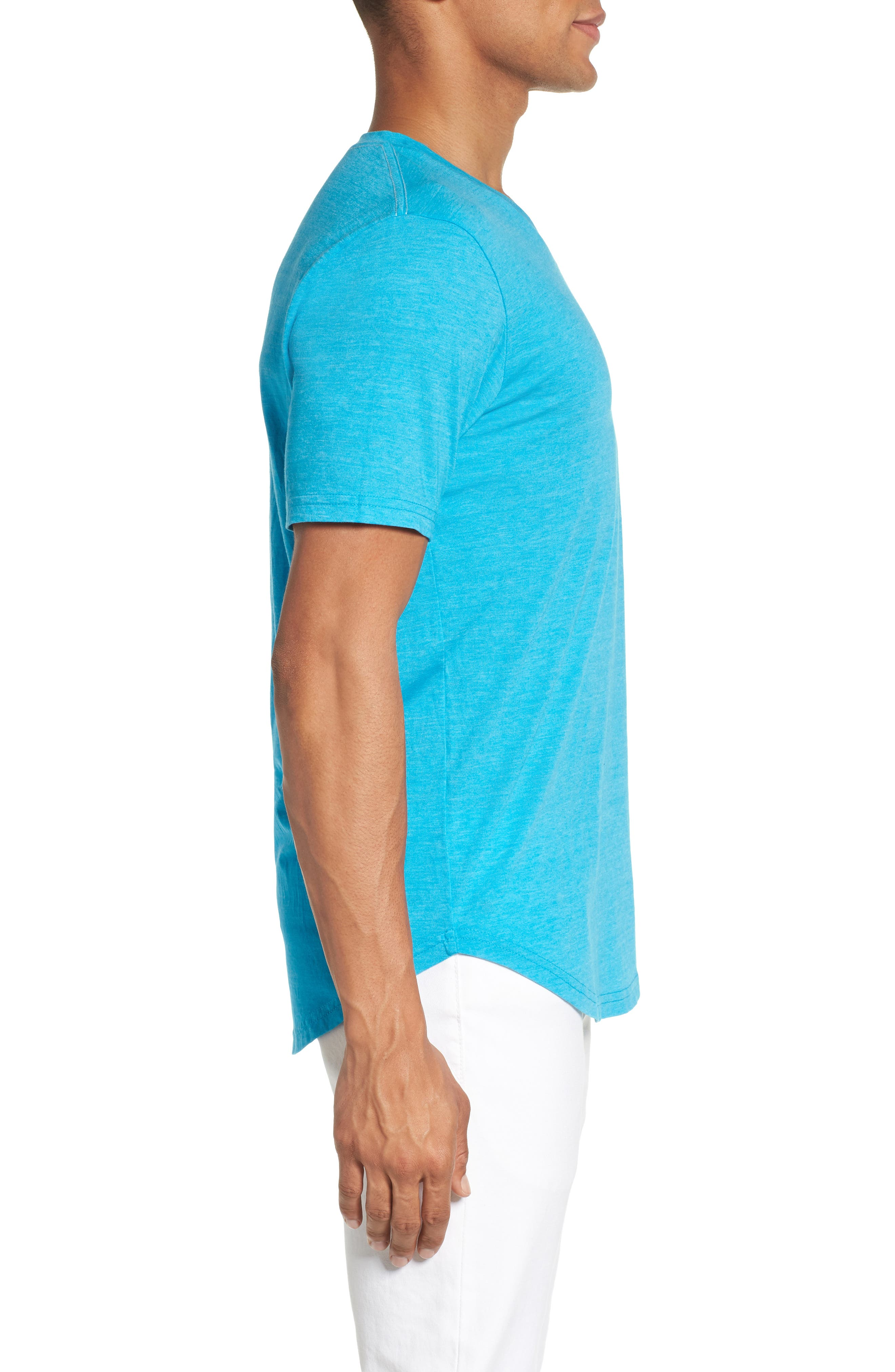 Scallop Triblend V-Neck T-Shirt,                             Alternate thumbnail 55, color,