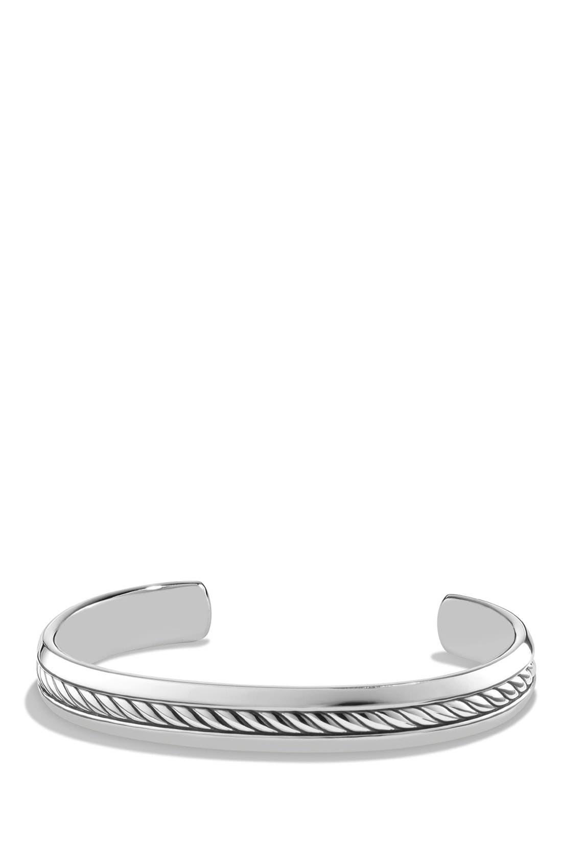'Cable Classics' Chain Bracelet,                             Main thumbnail 1, color,                             SILVER