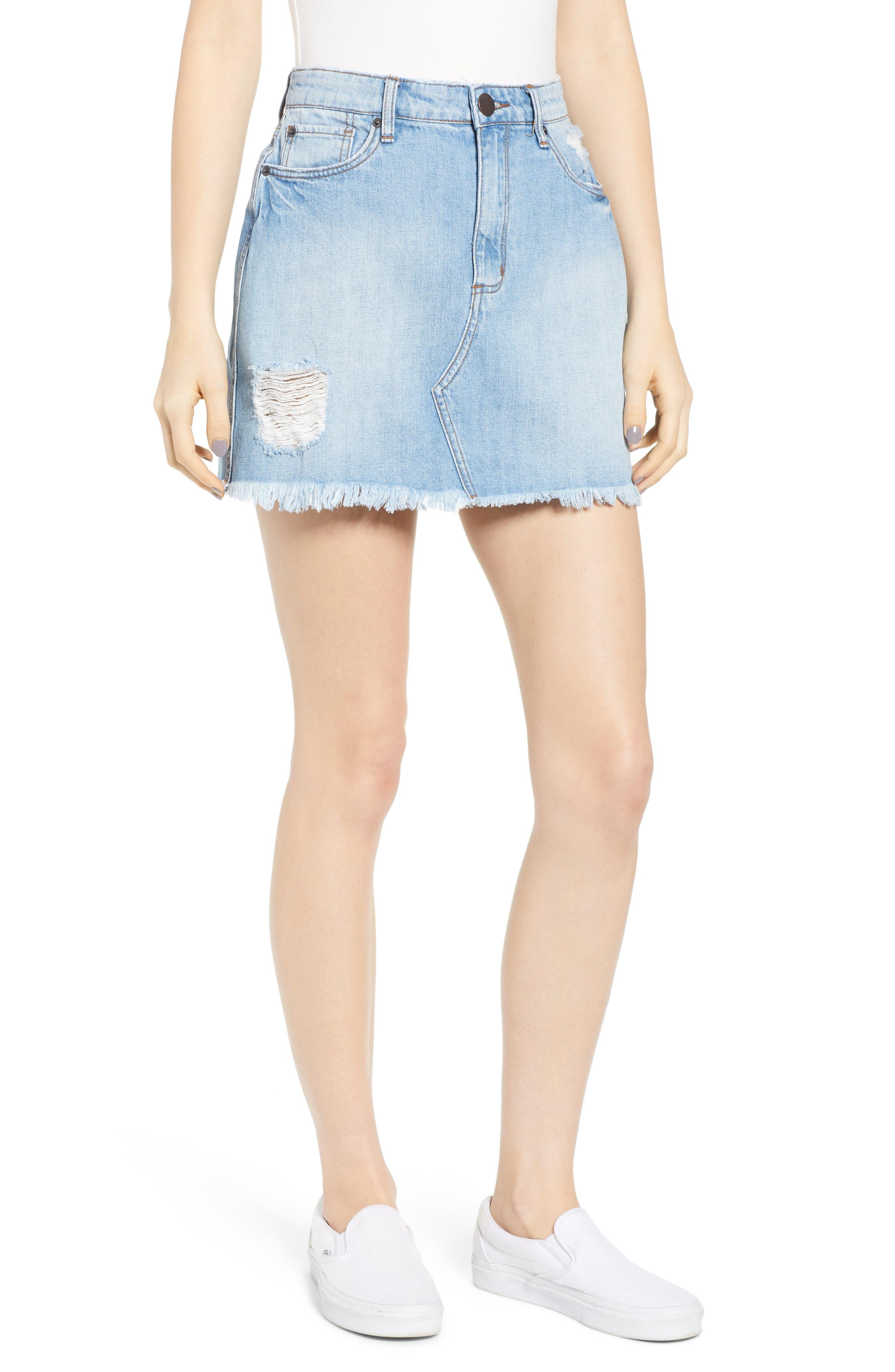 Sts Blue Emily Denim Miniskirt, Blue