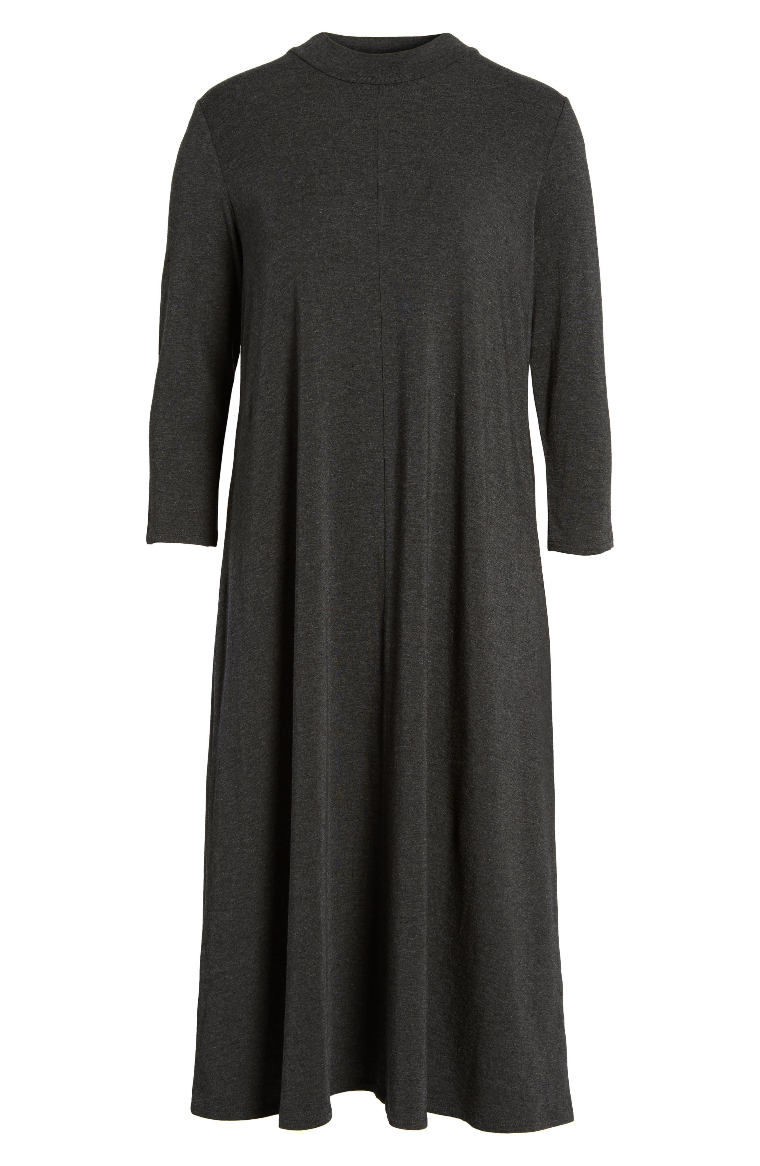 Stretch Tencel<sup>®</sup> Lyocell Midi Dress,                             Alternate thumbnail 6, color,                             021