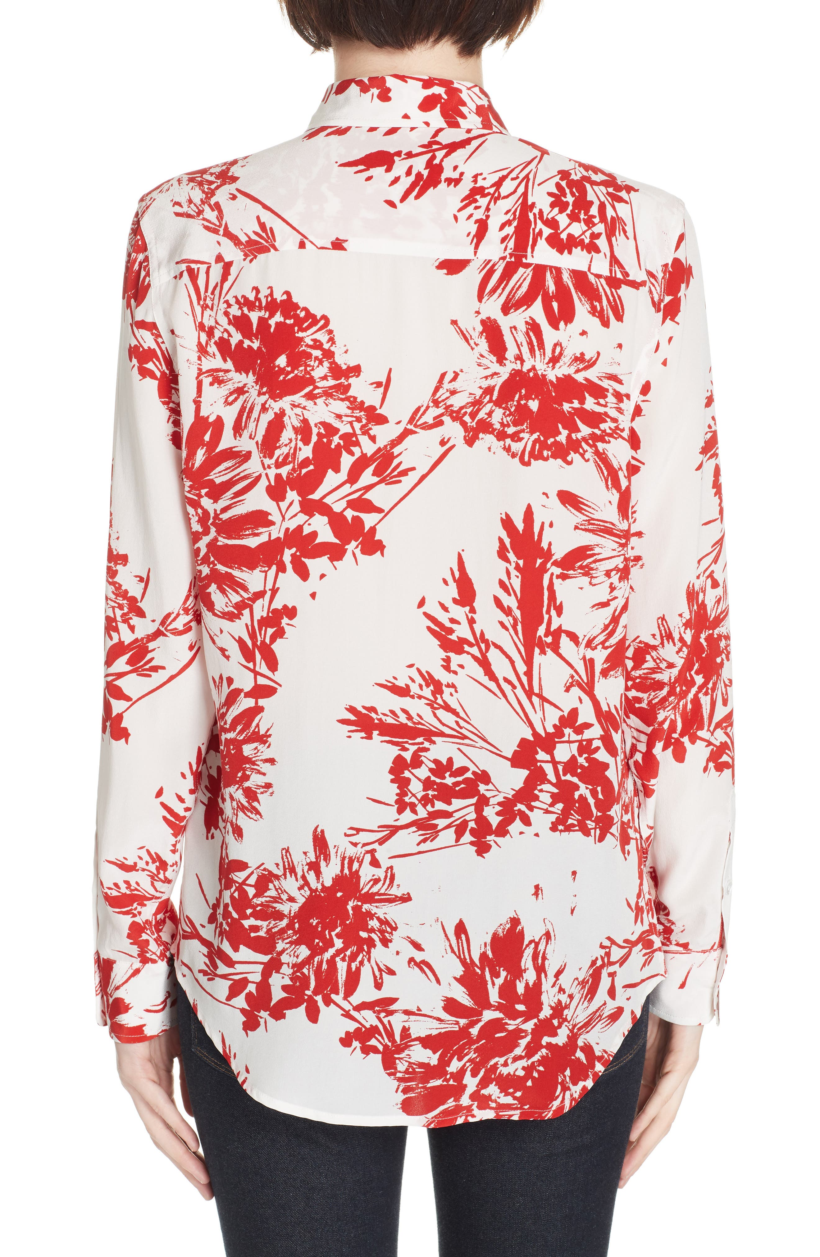 Brett Silk Blend Shirt,                             Alternate thumbnail 2, color,                             NATURAL WHITE BLOOD MOON
