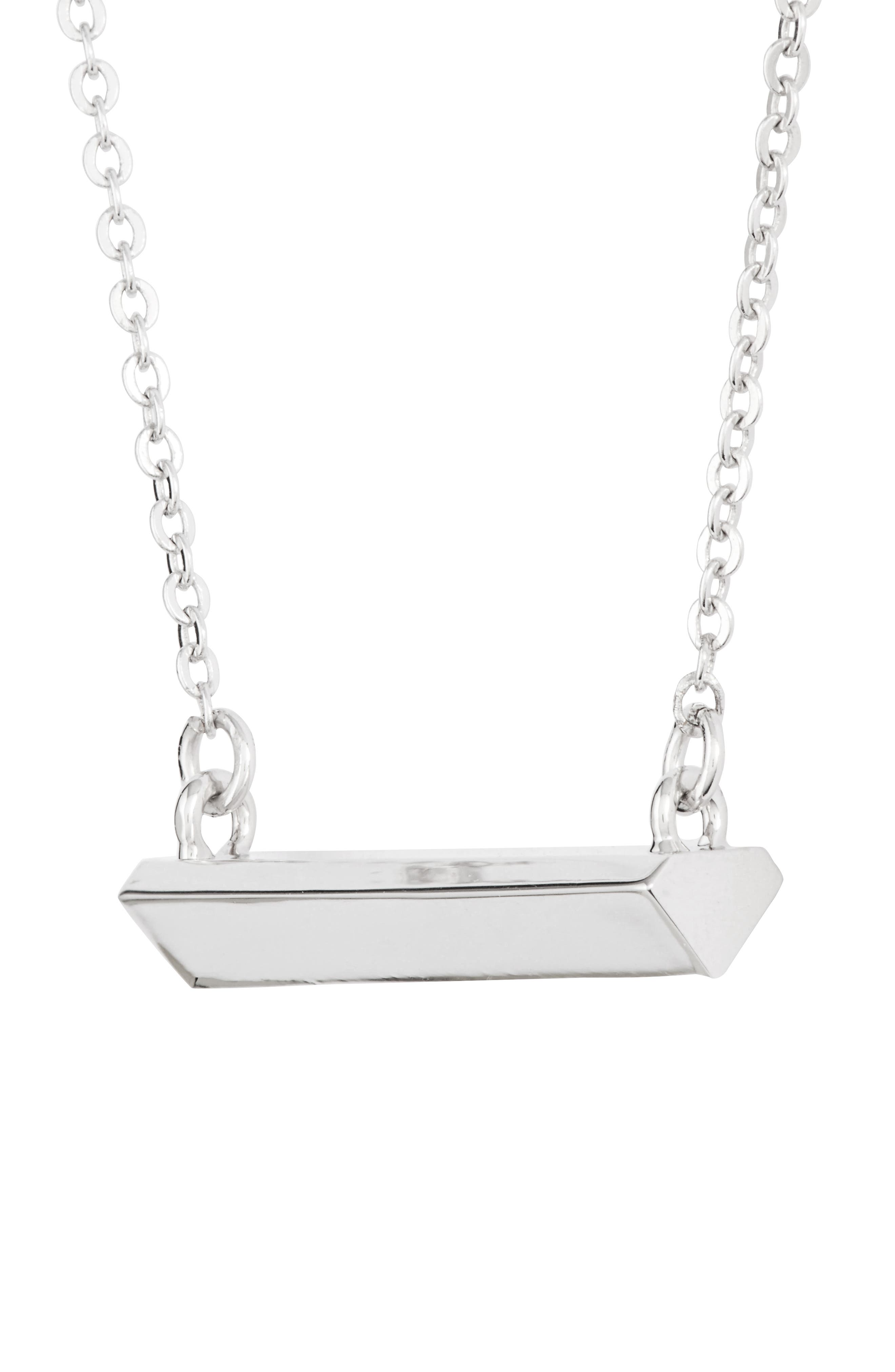 STELLA VALLE,                             Diamond Shaped Bar Pendant Necklace,                             Alternate thumbnail 3, color,                             040