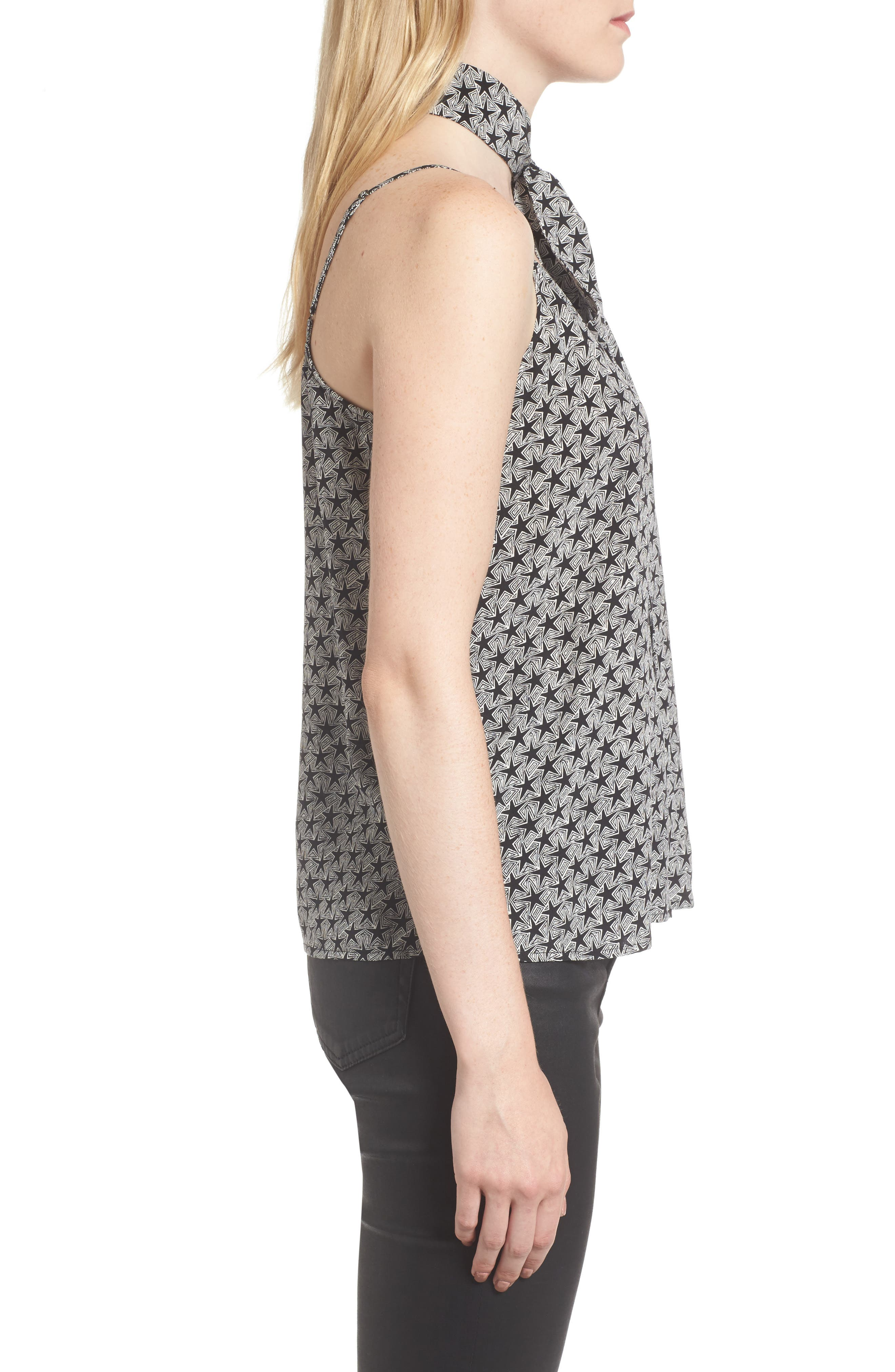 Lisette Silk Tank & Scarf,                             Alternate thumbnail 3, color,                             013