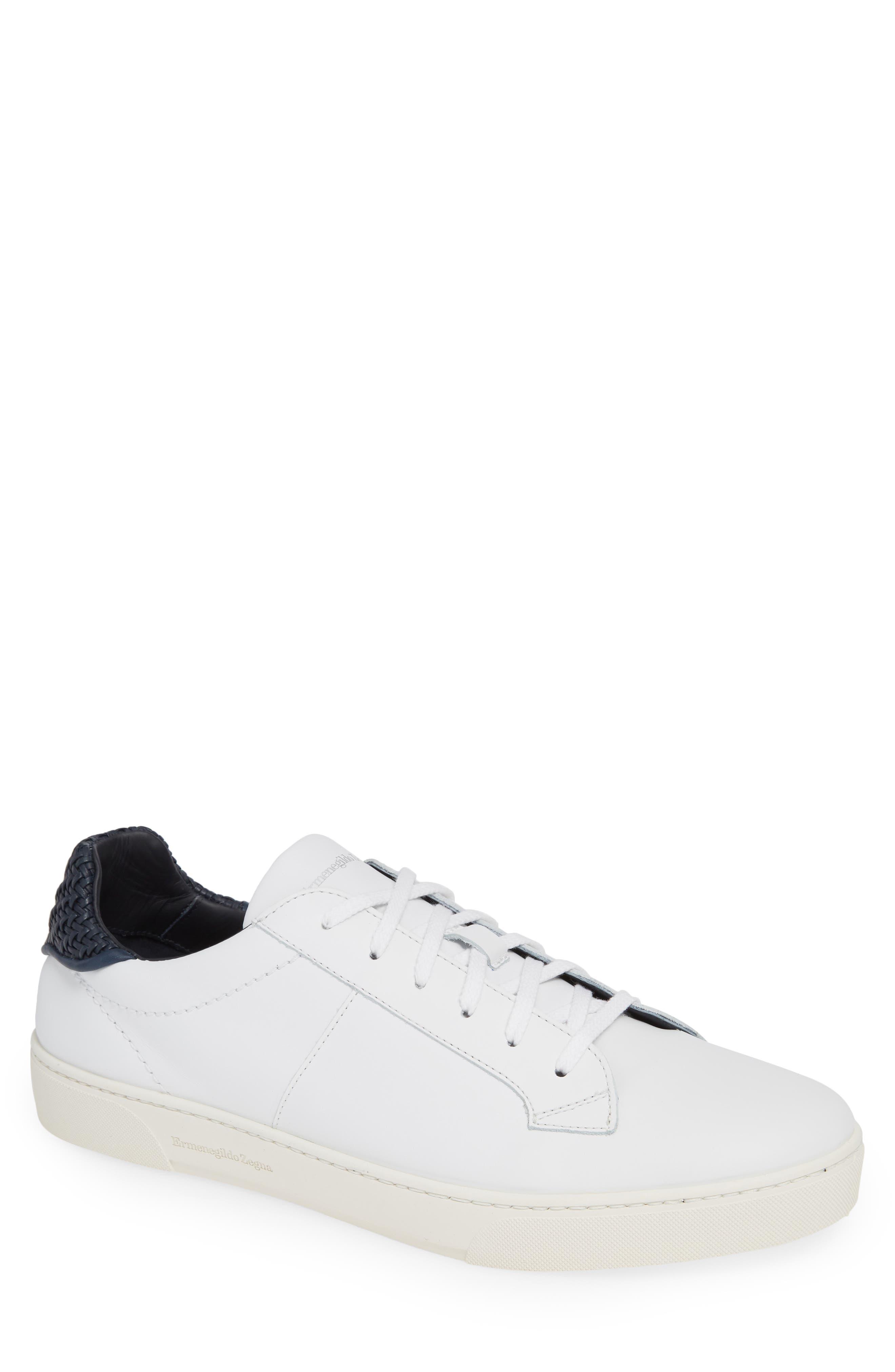 Sneaker,                         Main,                         color, WHITE/ BLUE