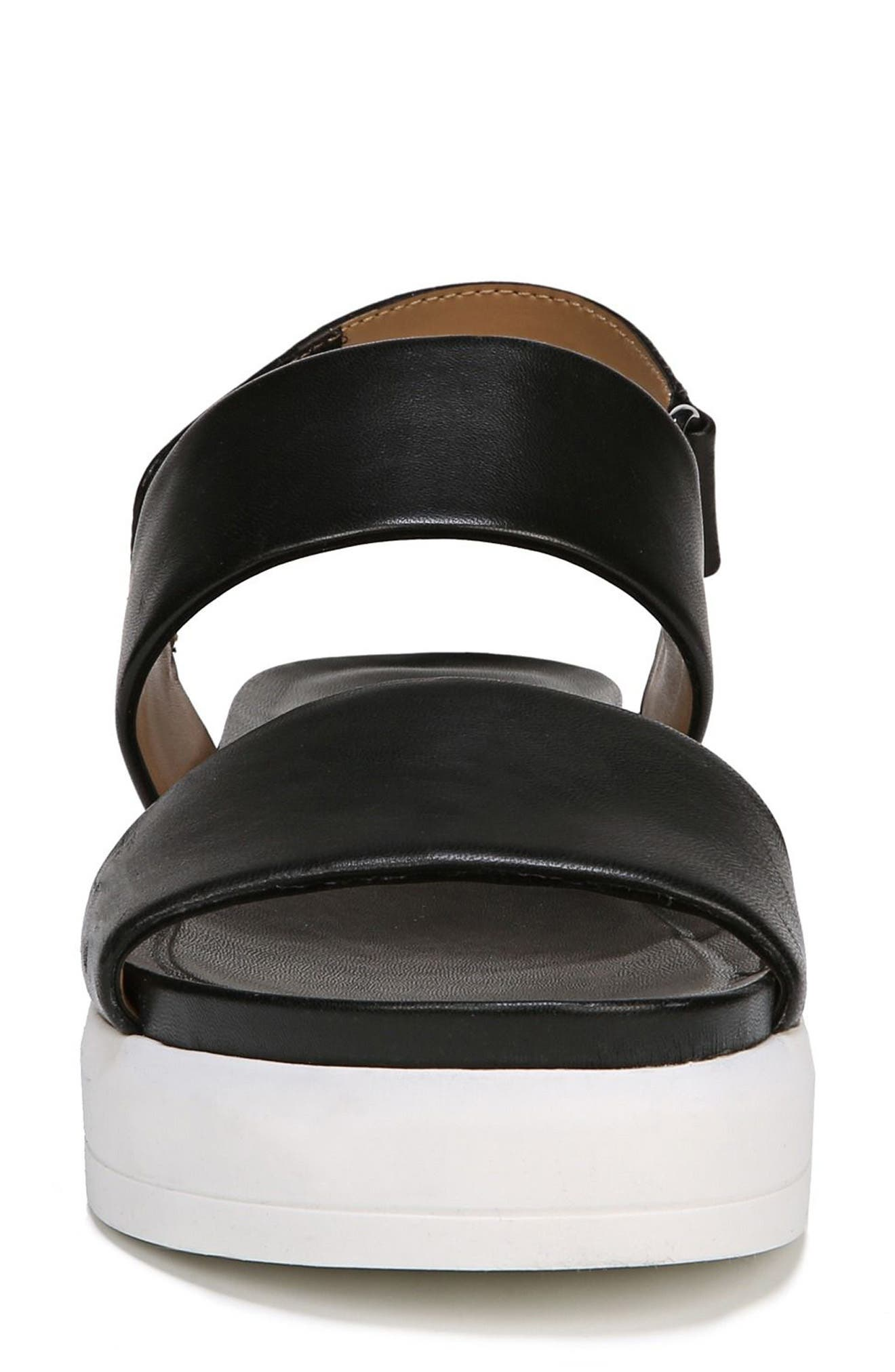SARTO by Franco Sarto Kenan Platform Sandal,                             Alternate thumbnail 4, color,                             BLACK LEATHER