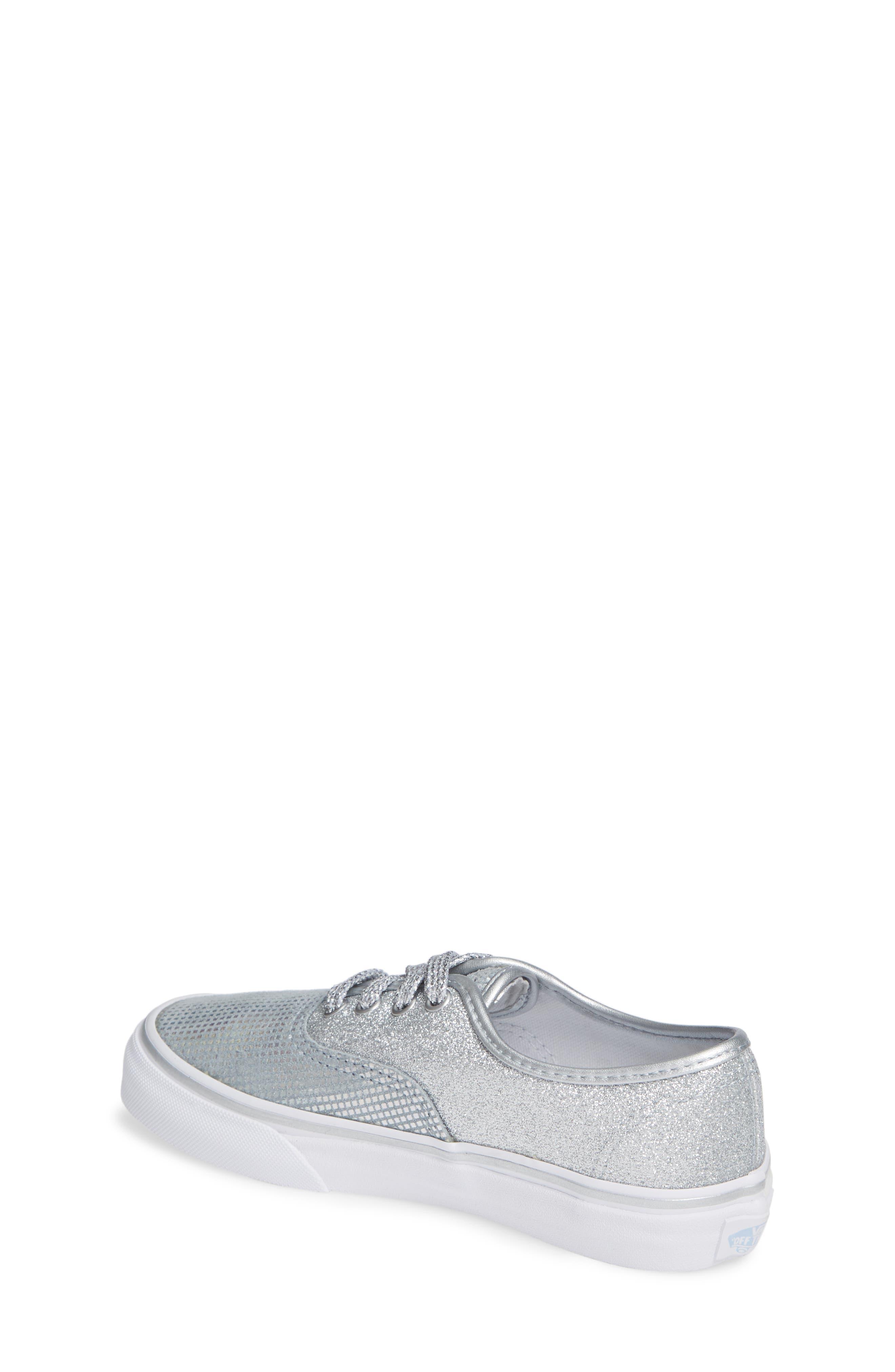 Authentic Glitter Sneaker,                             Alternate thumbnail 2, color,                             SILVER TEXTILE