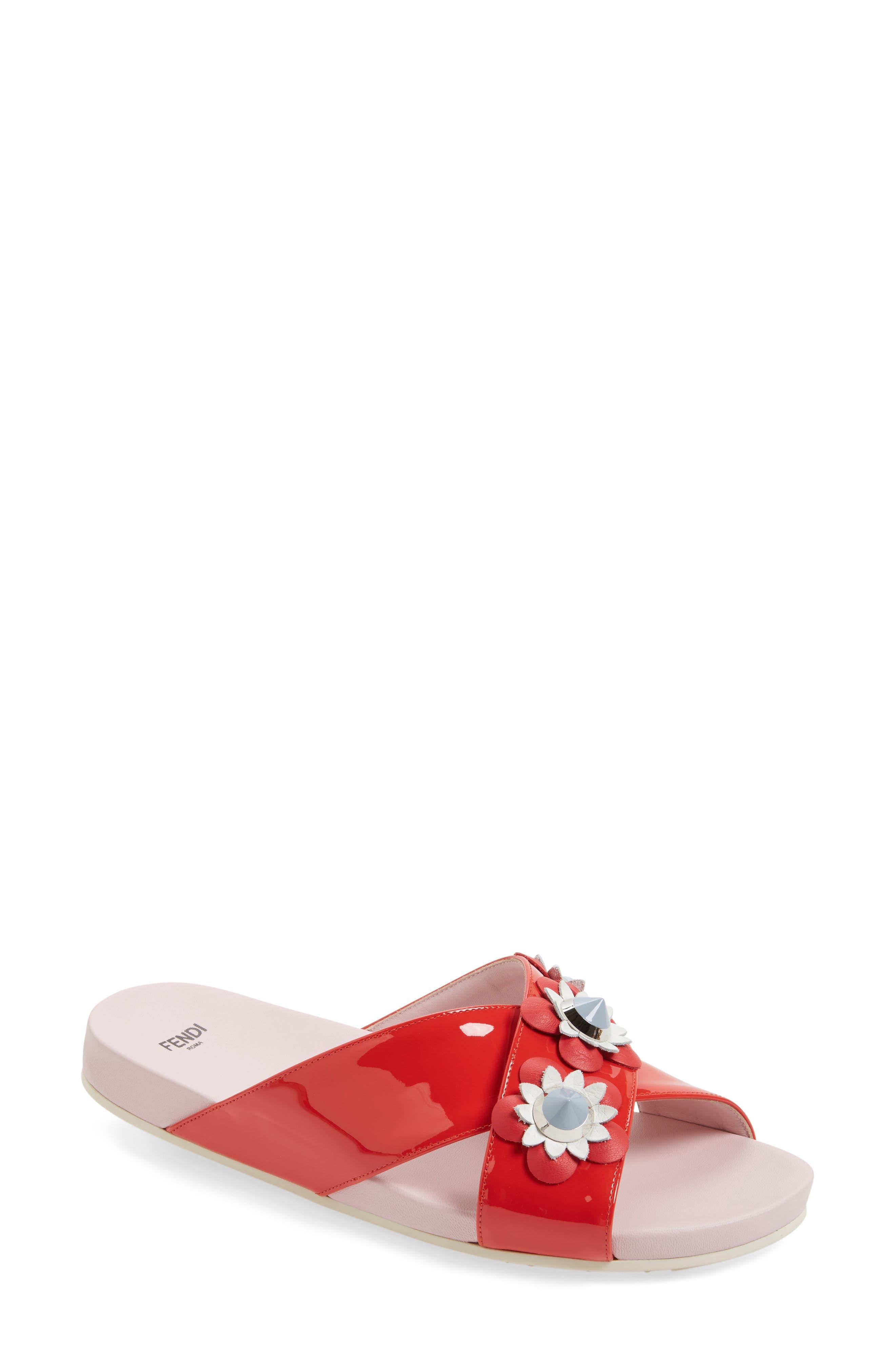 Flowerland Slide Sandal,                             Main thumbnail 3, color,