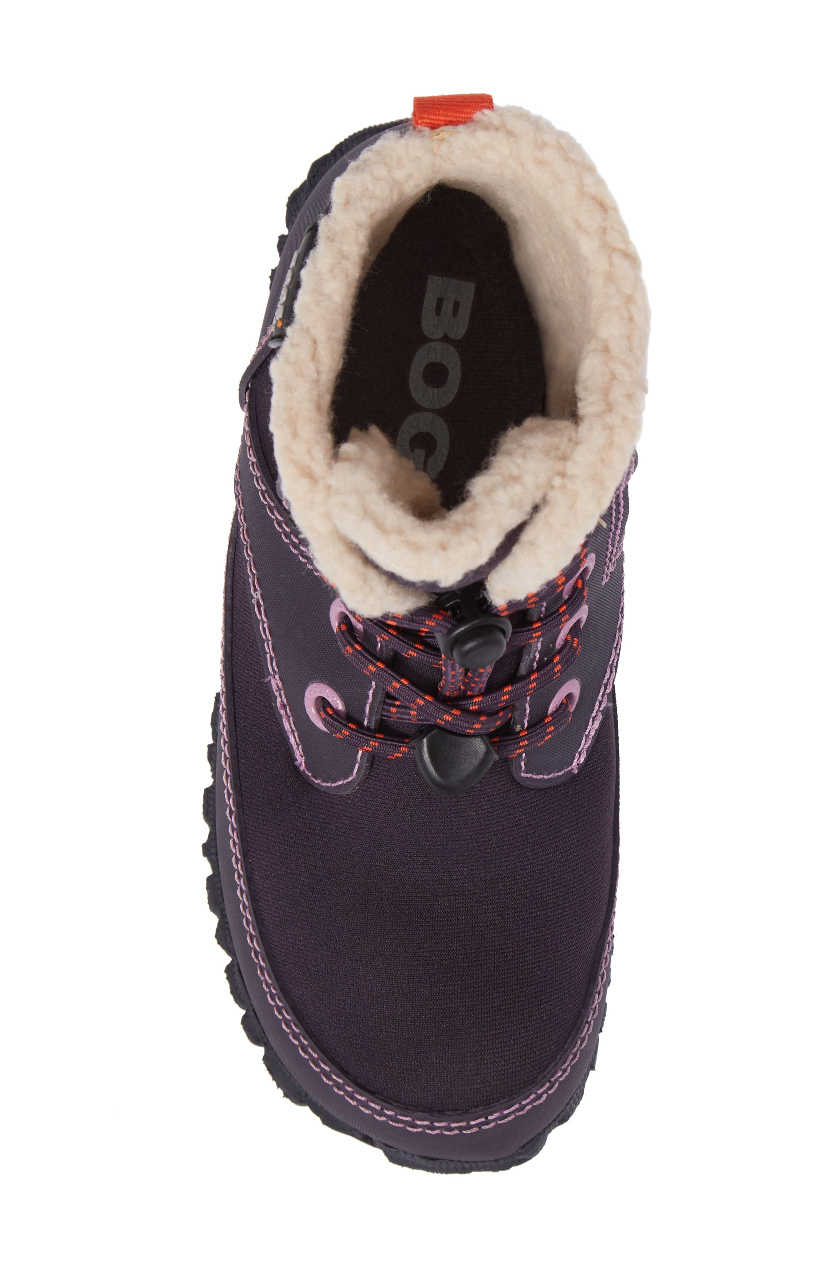 Skyler Faux Fur Insulated Waterproof Boot,                             Alternate thumbnail 5, color,                             EGGPLANT MULTI