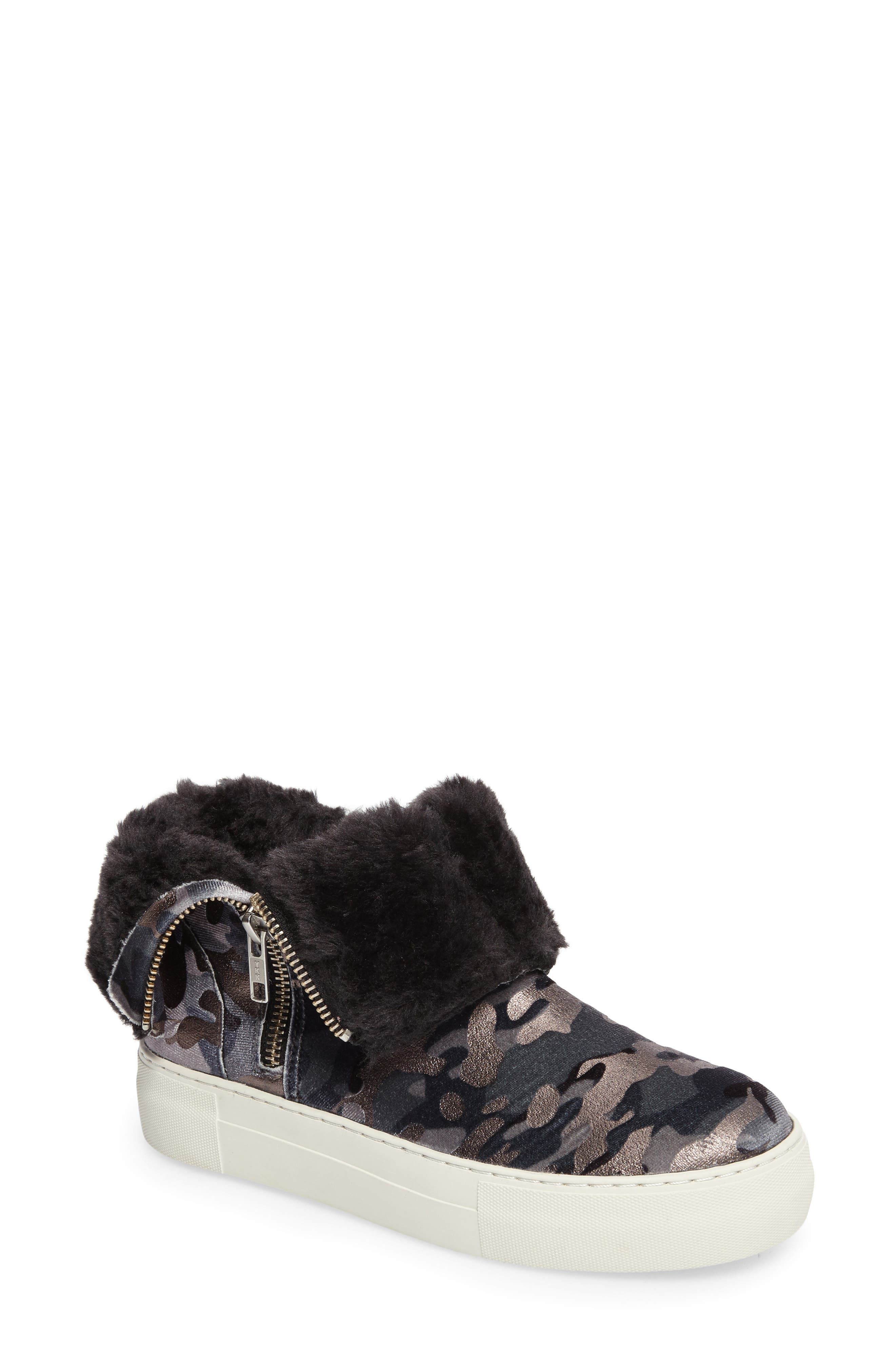Allie Faux Fur Lined Platform Boot,                             Main thumbnail 1, color,                             020