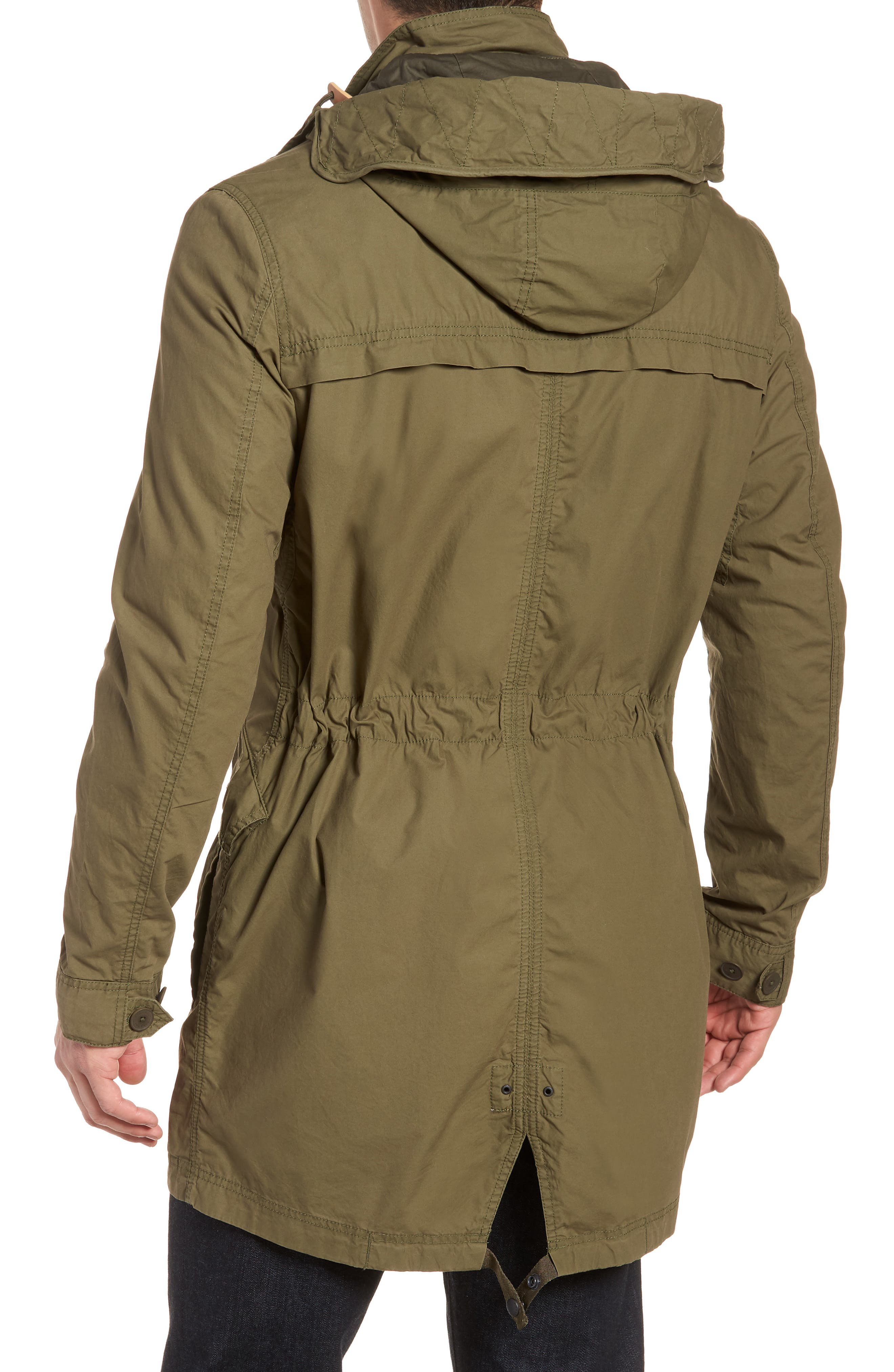 Lightweight Hooded Parka,                             Alternate thumbnail 2, color,                             FATIGUE