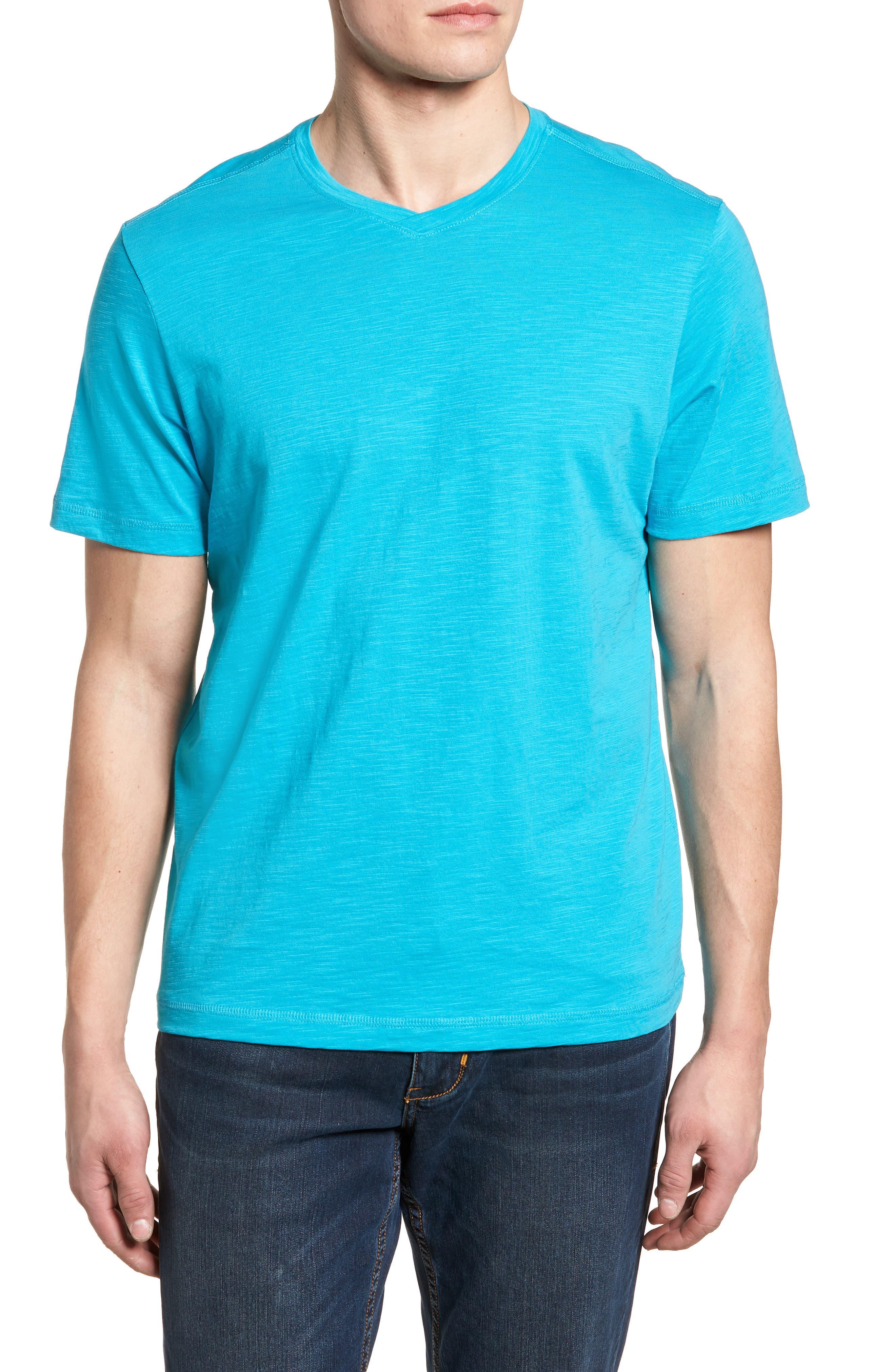 Portside Palms V-Neck T-Shirt,                             Main thumbnail 6, color,