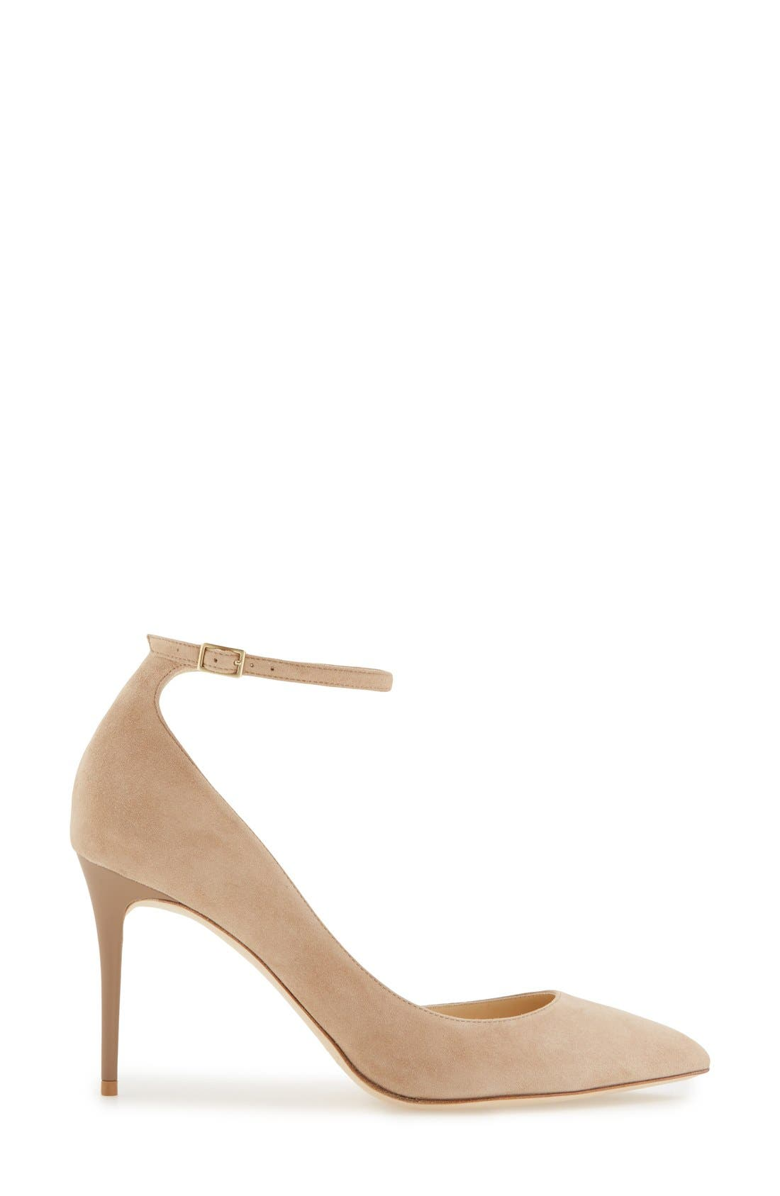 'Lucy' Half d'Orsay Pointy Toe Pump,                             Alternate thumbnail 12, color,