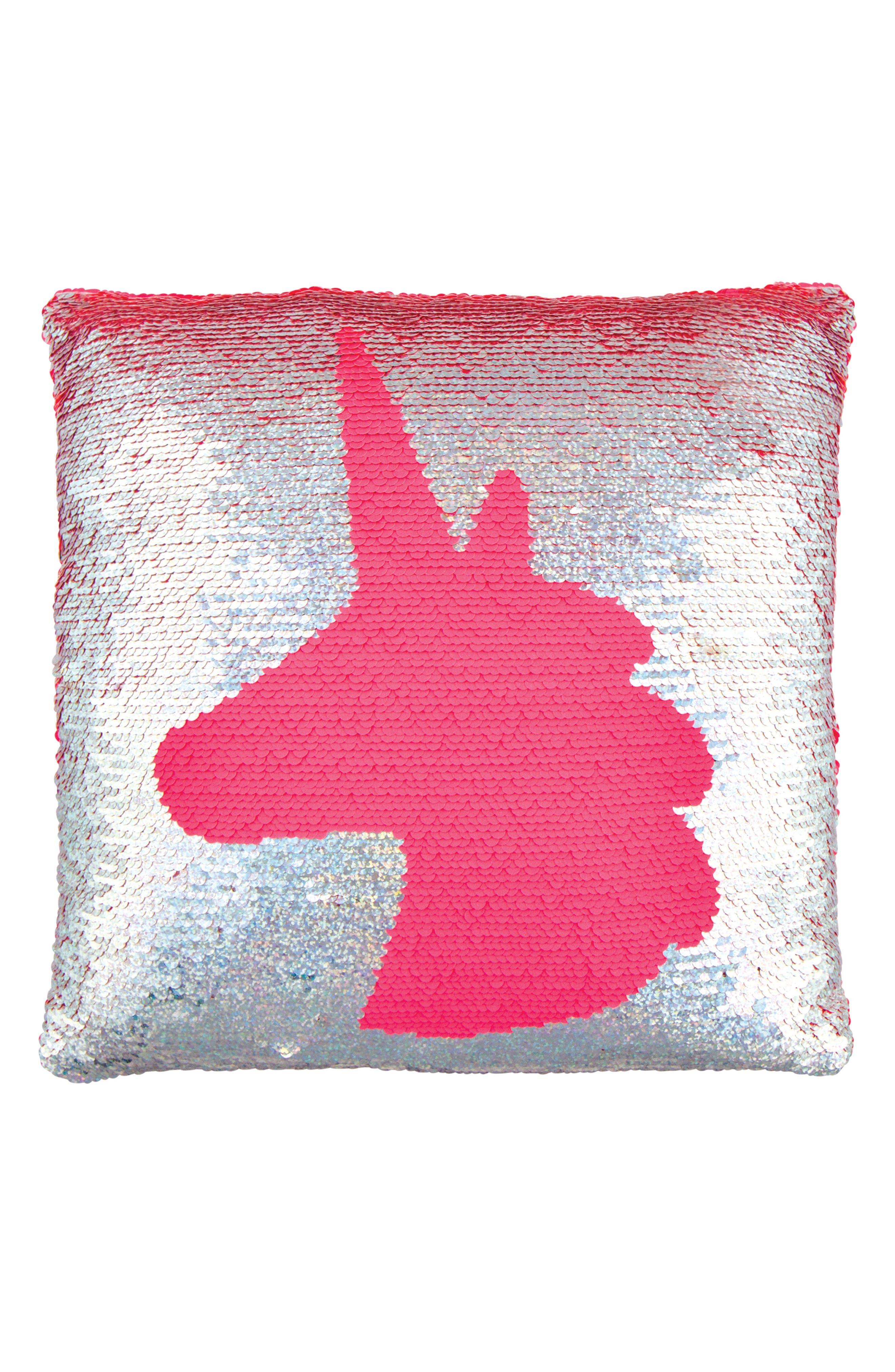 Magic Flip Sequin Unicorn Accent Pillow,                             Alternate thumbnail 3, color,                             650
