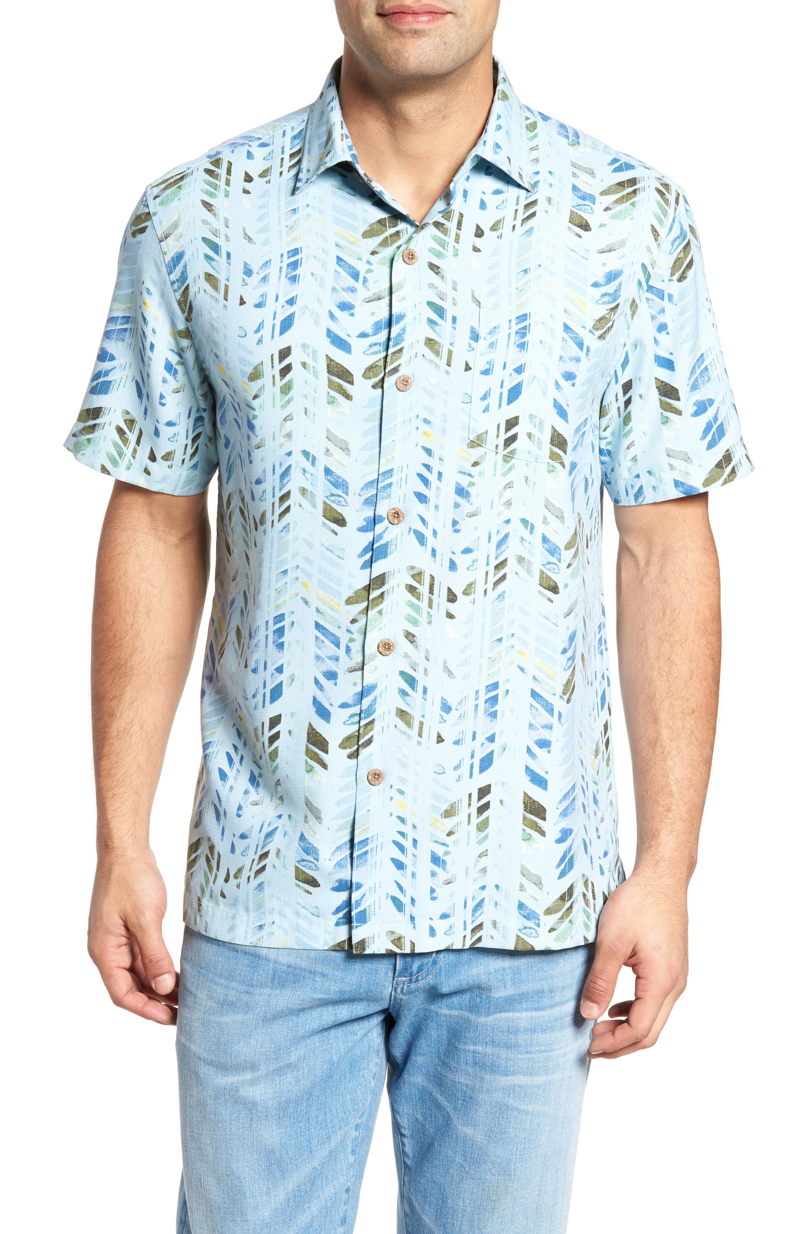 Right on Tide Silk Blend Camp Shirt,                         Main,                         color, 400