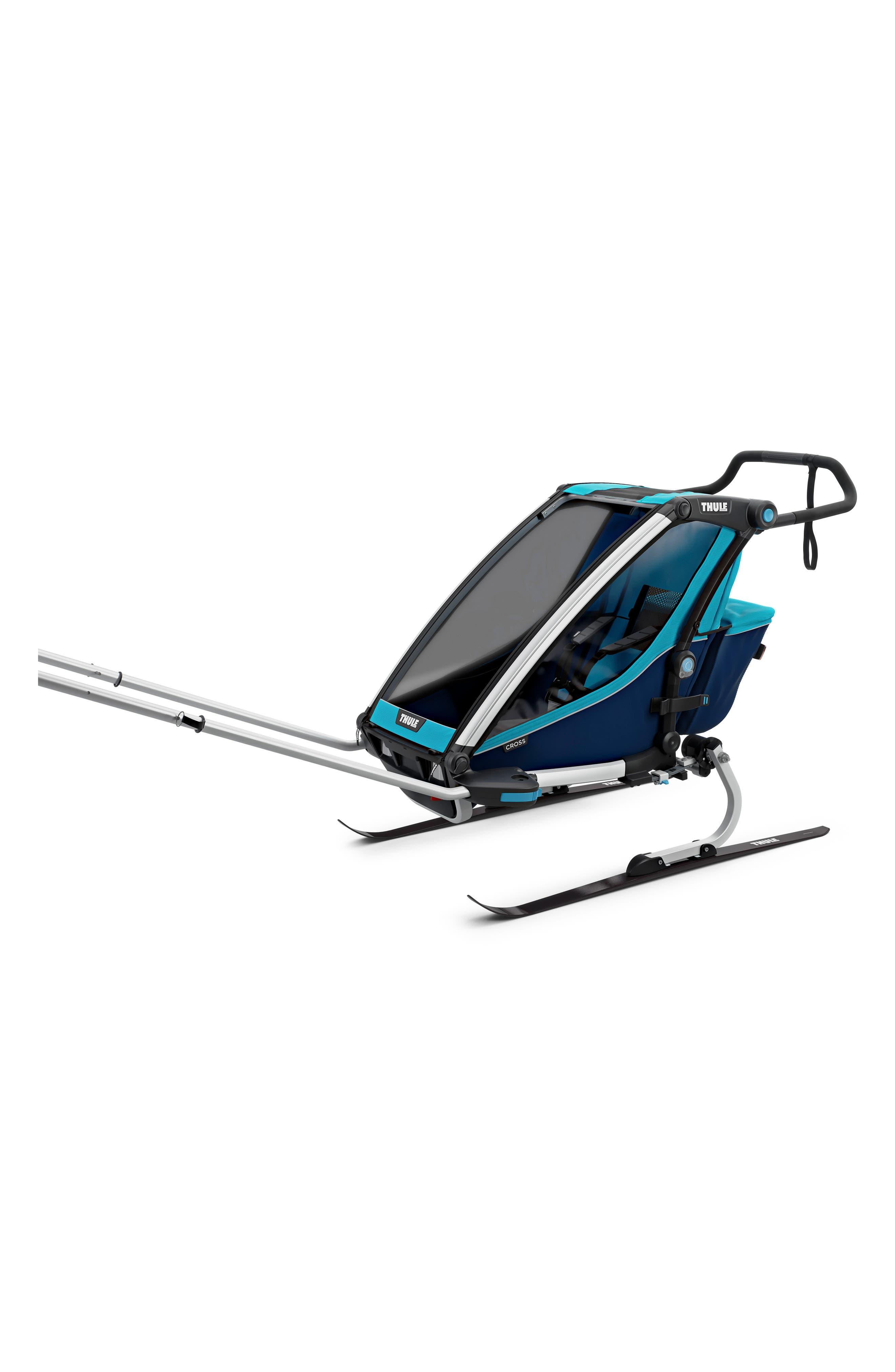 Chariot Cross 1 Multisport Cycle Trailer/Stroller,                             Alternate thumbnail 5, color,                             THULE BLUE