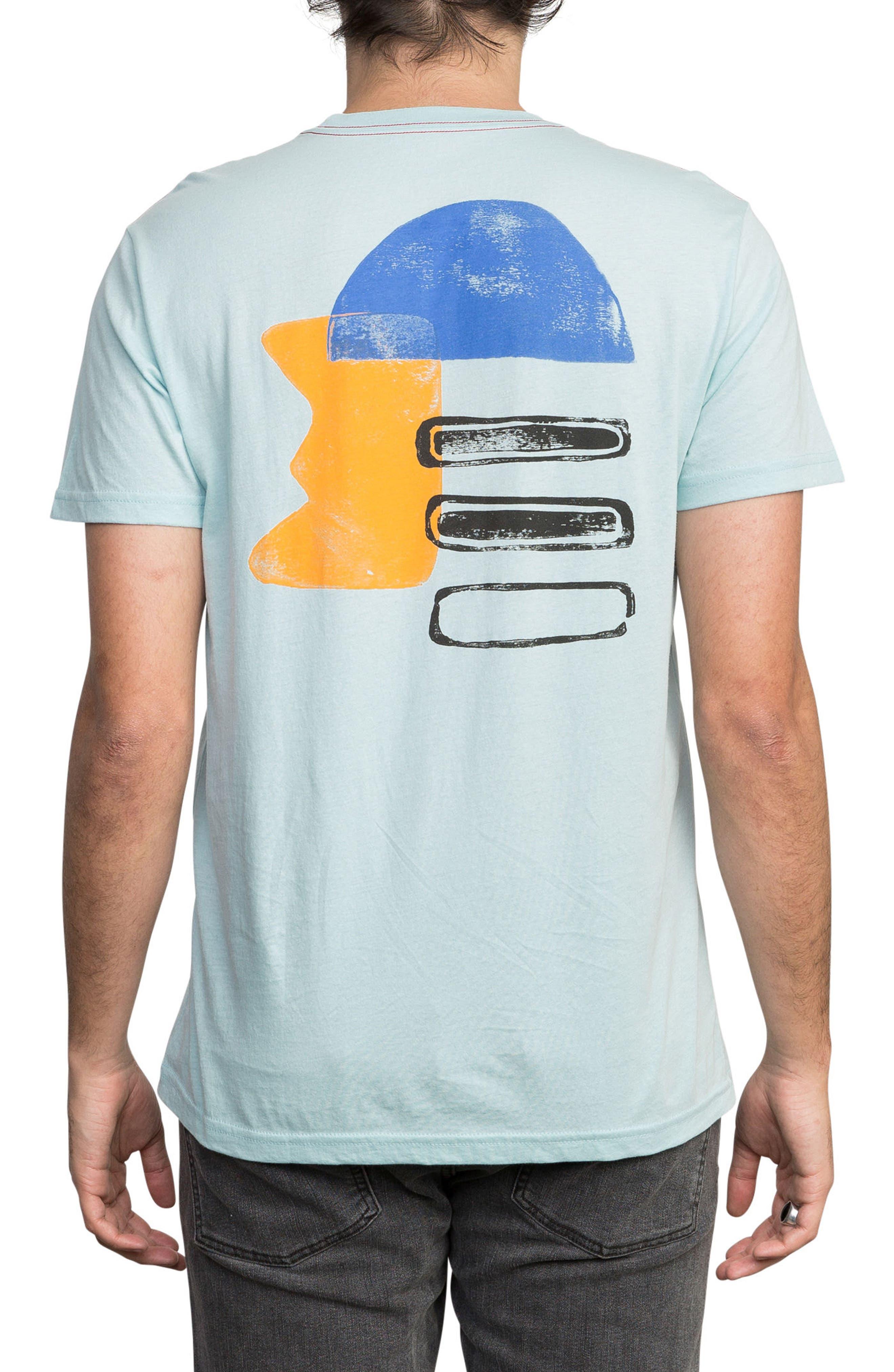 Block Print T-Shirt,                             Alternate thumbnail 2, color,                             COSMOS