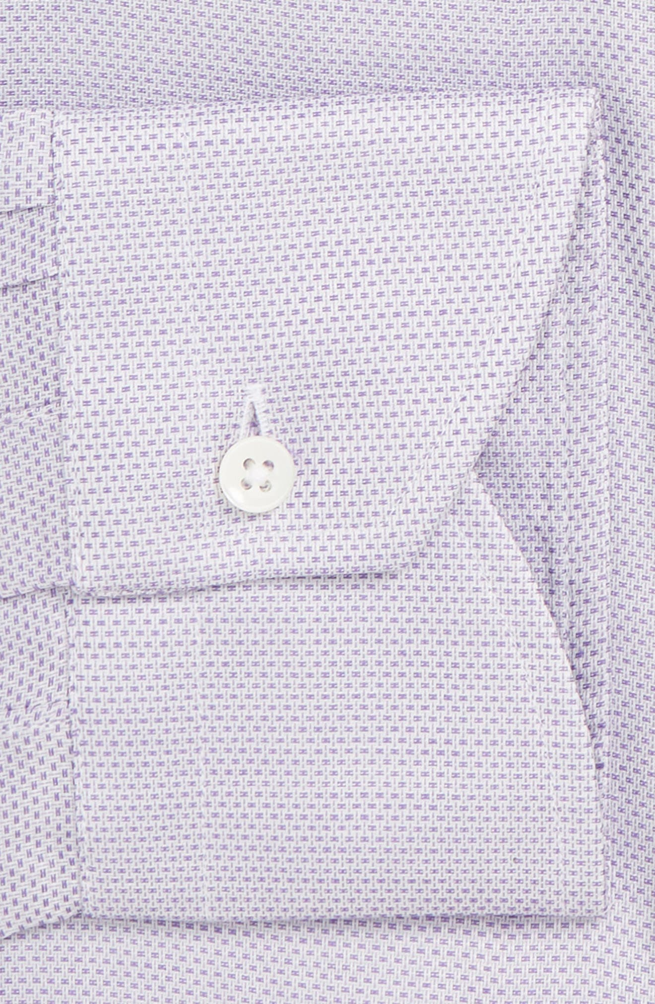 Trim Fit Dress Shirt,                             Alternate thumbnail 7, color,                             LIGHT PURPLE