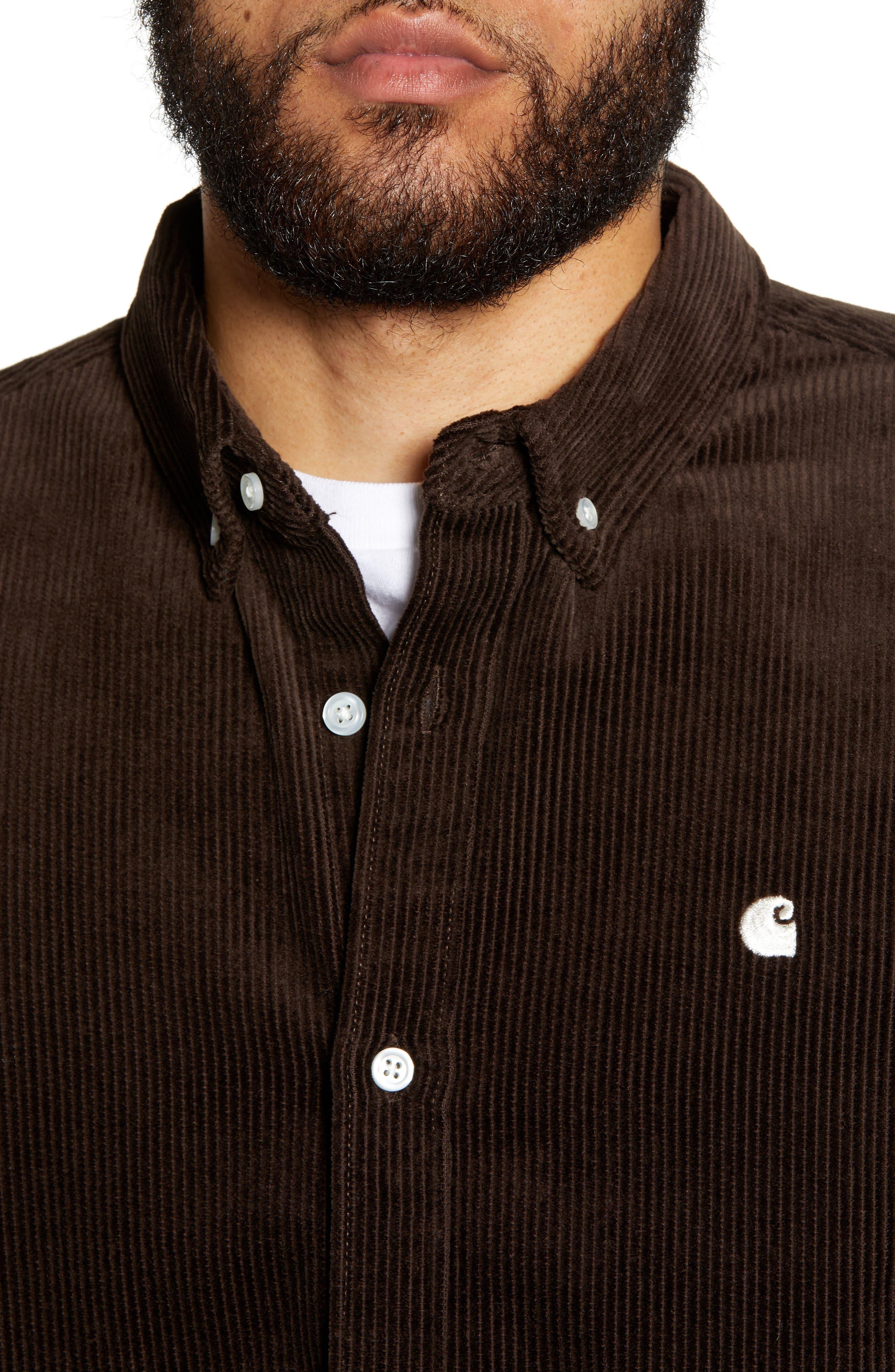 Madison Corduroy Shirt,                             Alternate thumbnail 2, color,                             TOBACCO / WAX