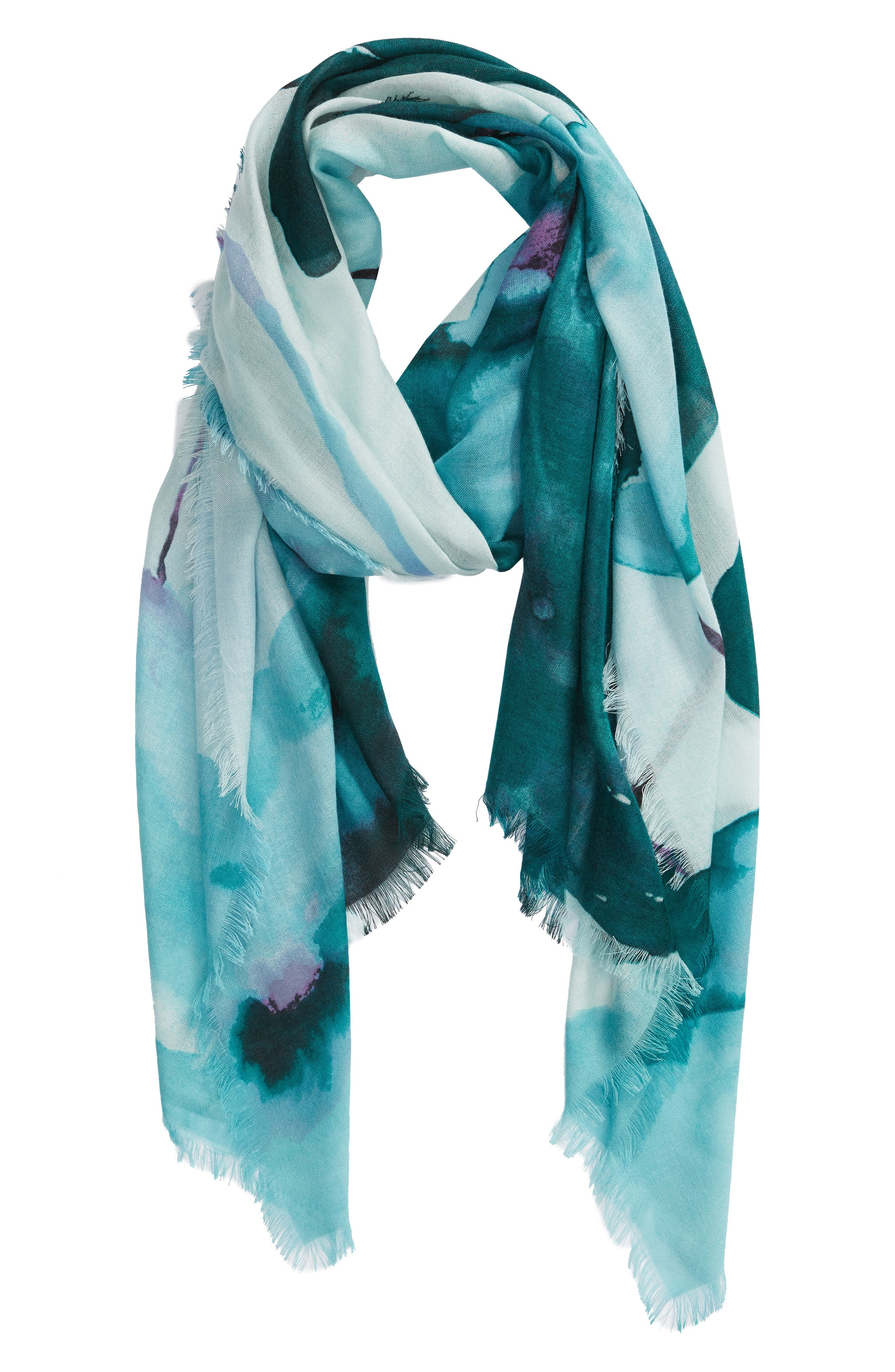 Eyelash Trim Print Cashmere & Silk Wrap,                             Alternate thumbnail 47, color,
