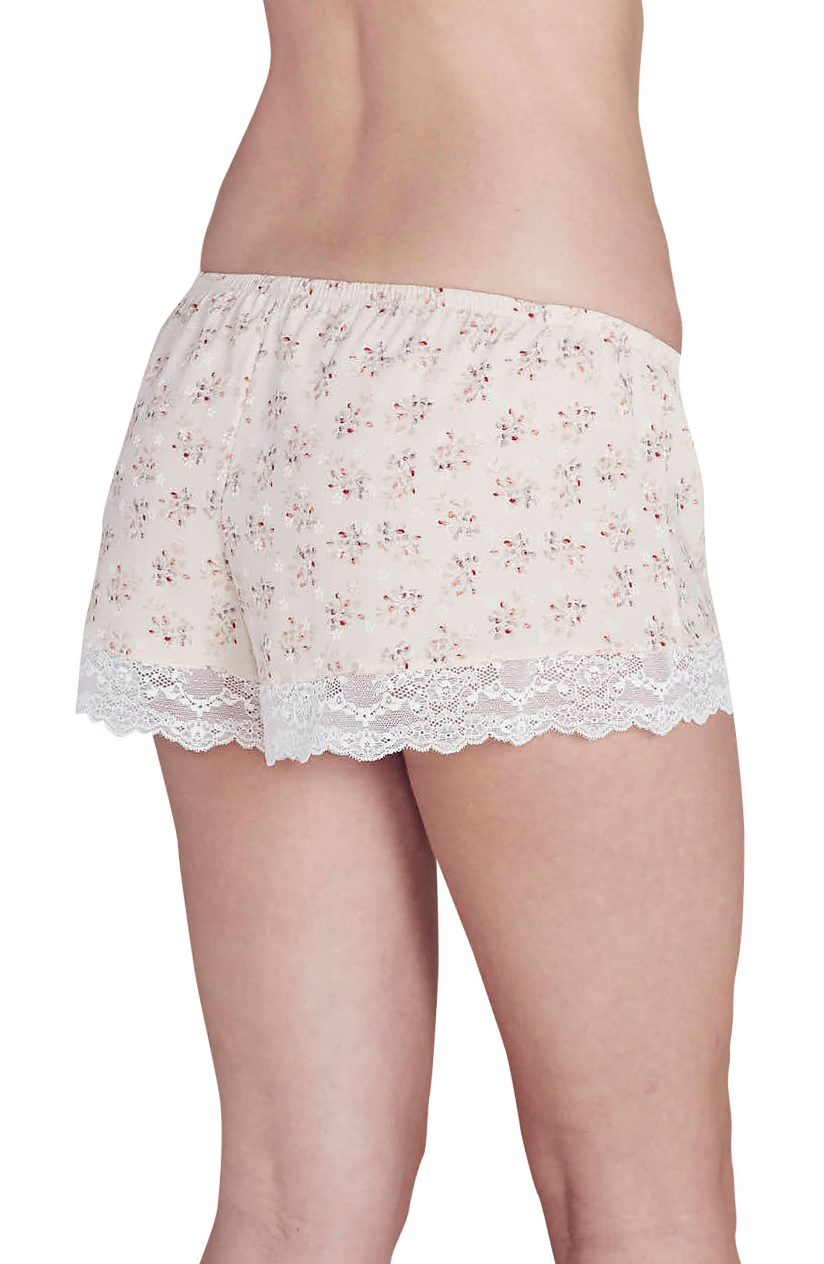 x Rebecca Taylor Lou Silk Shorts,                             Alternate thumbnail 4, color,