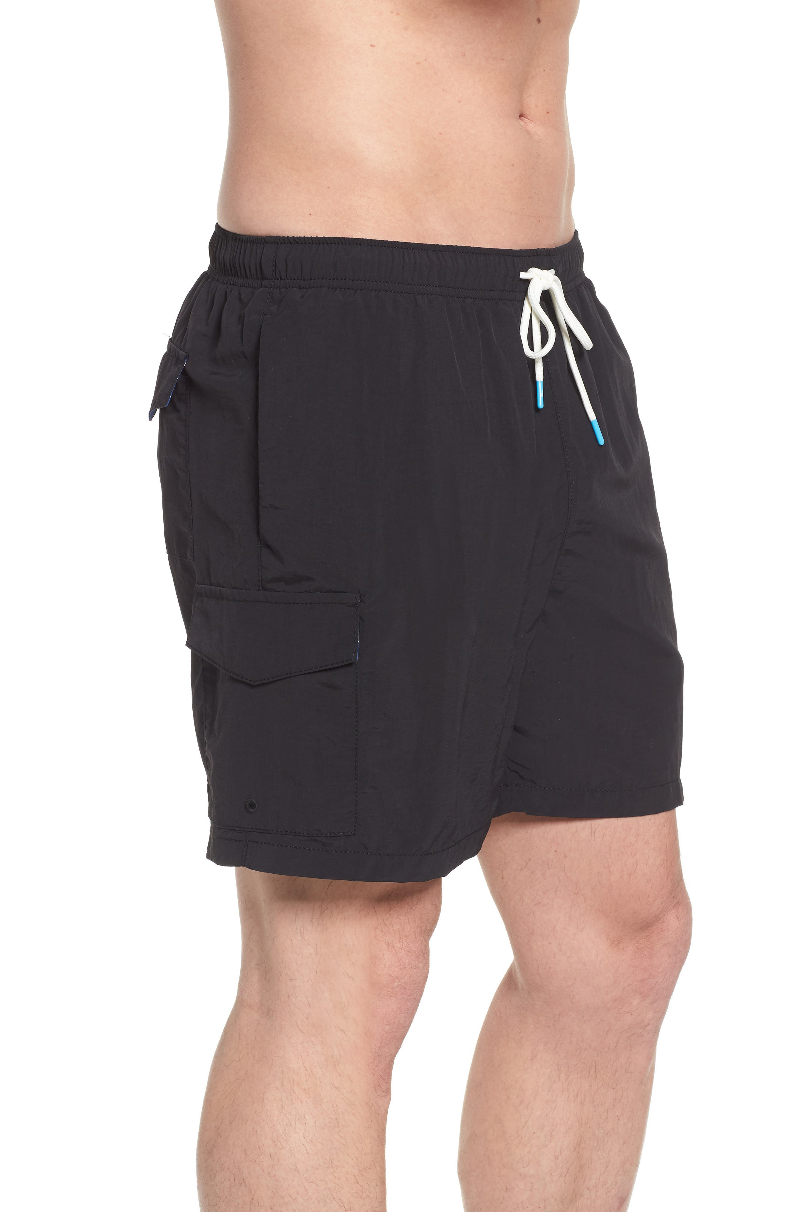Naples Coast Swim Trunks,                             Alternate thumbnail 3, color,                             BLACK