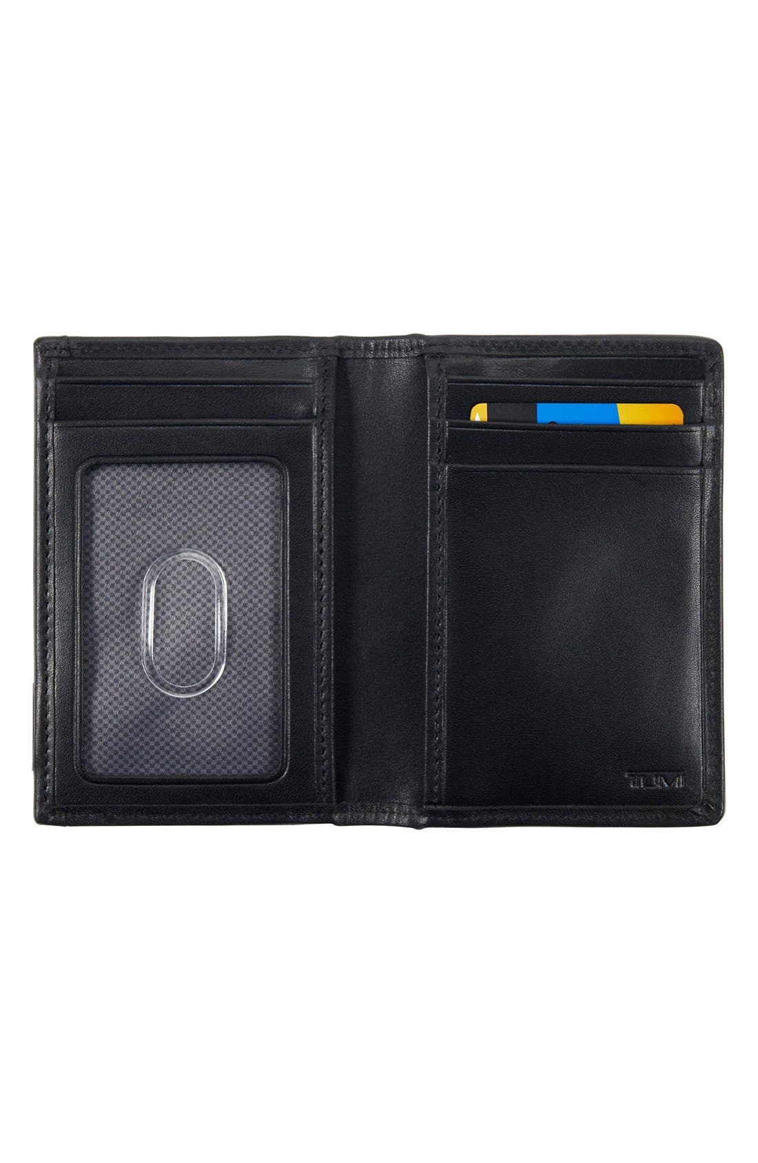 Alpha - ID Lock<sup>™</sup> Shielded Multi Window Card Case,                             Alternate thumbnail 2, color,                             BLACK