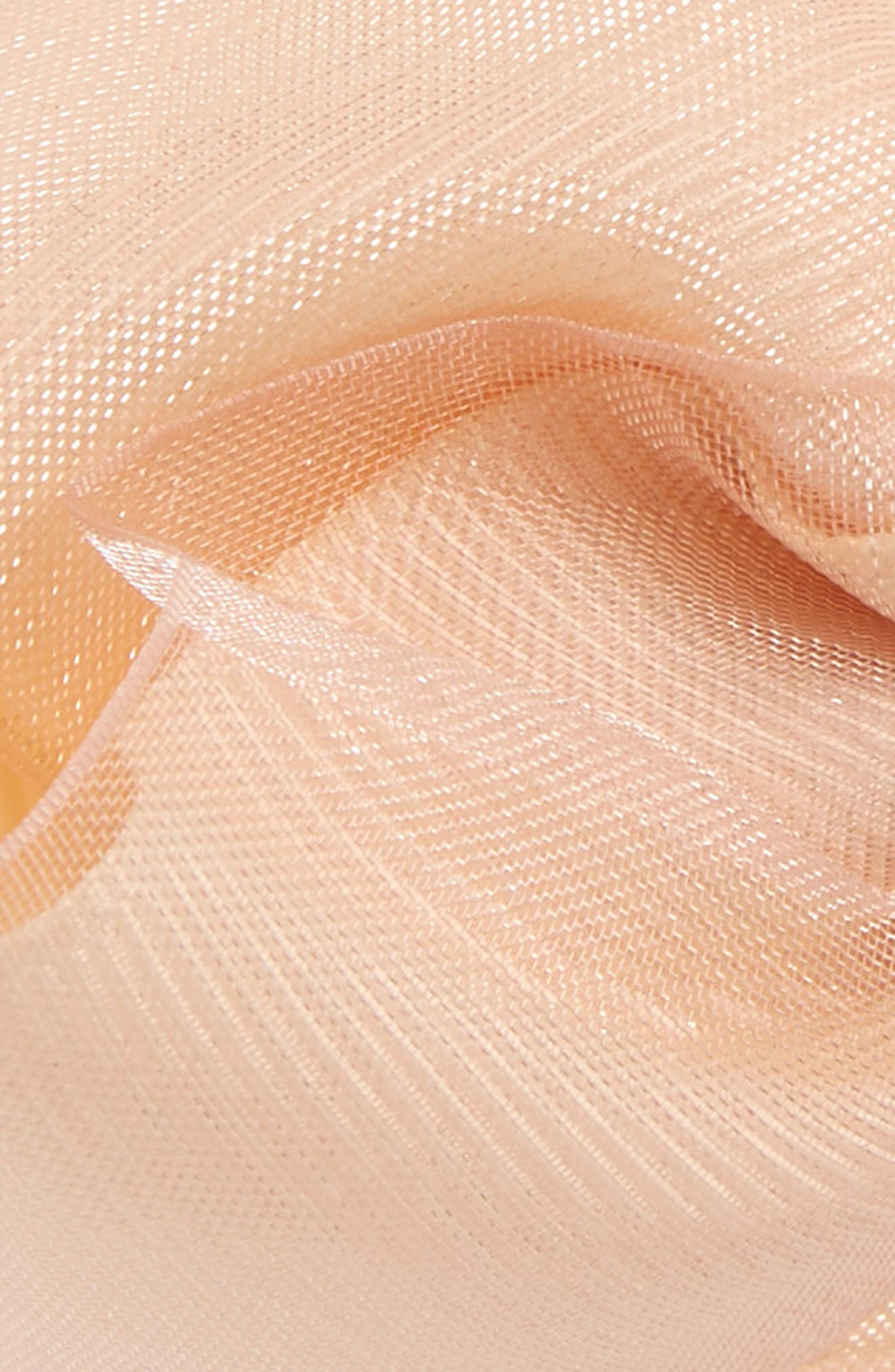 2-Pack Organza Bow Hair Clips,                             Alternate thumbnail 4, color,                             NUDE