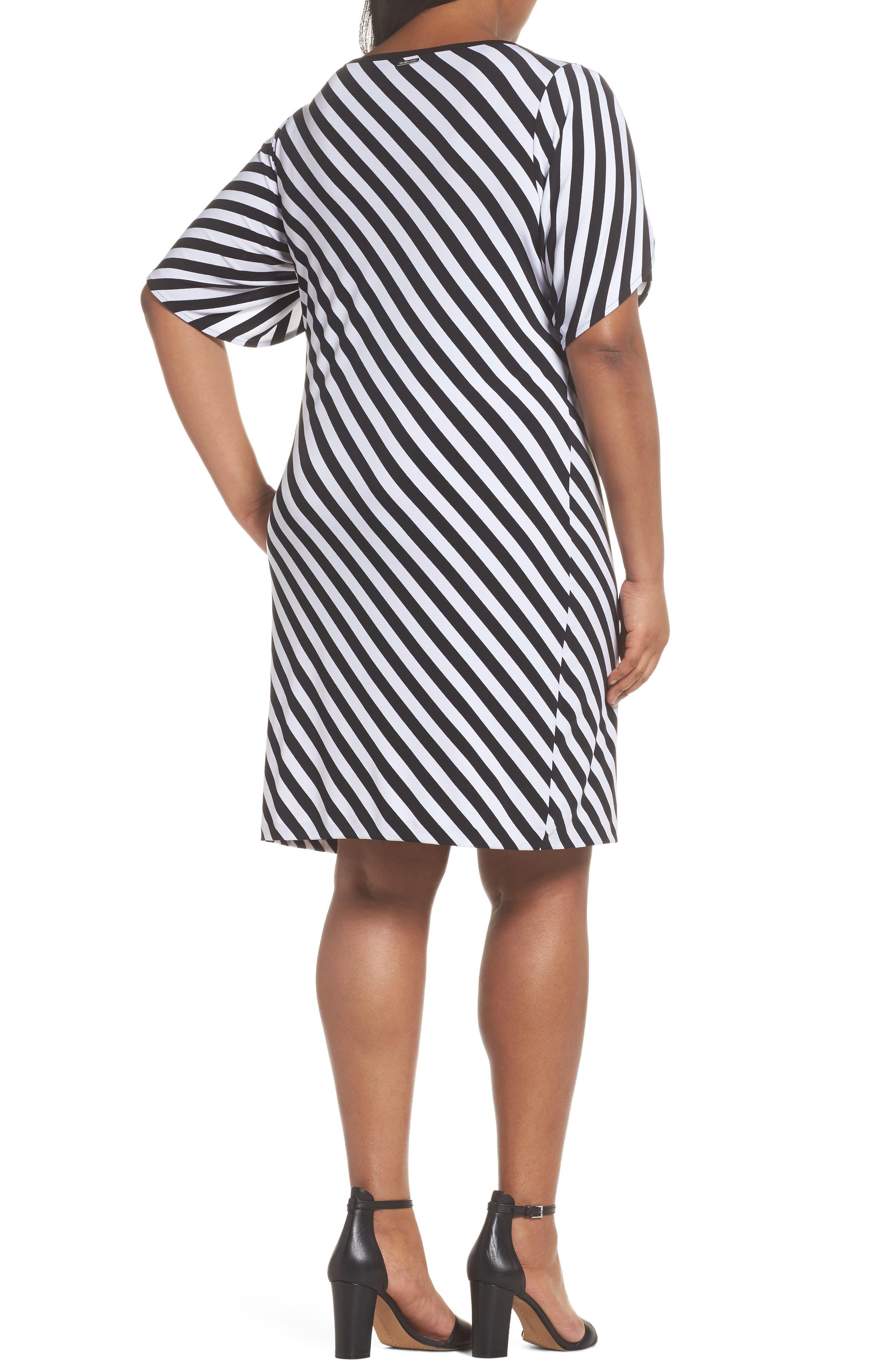 Tulip Sleeve Stripe Dress,                             Alternate thumbnail 2, color,