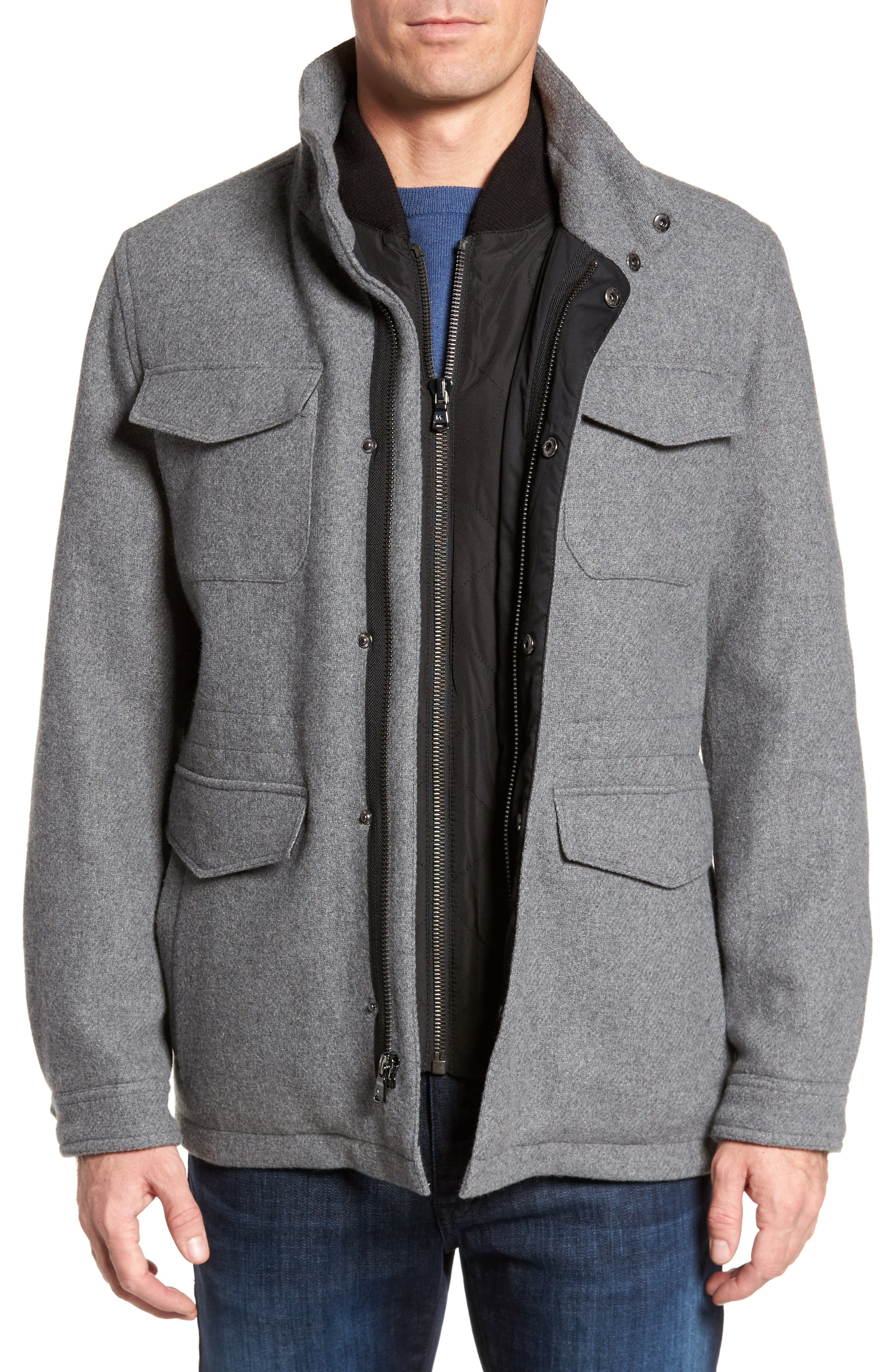 Regular Fit Double Layer Field Jacket,                             Main thumbnail 2, color,
