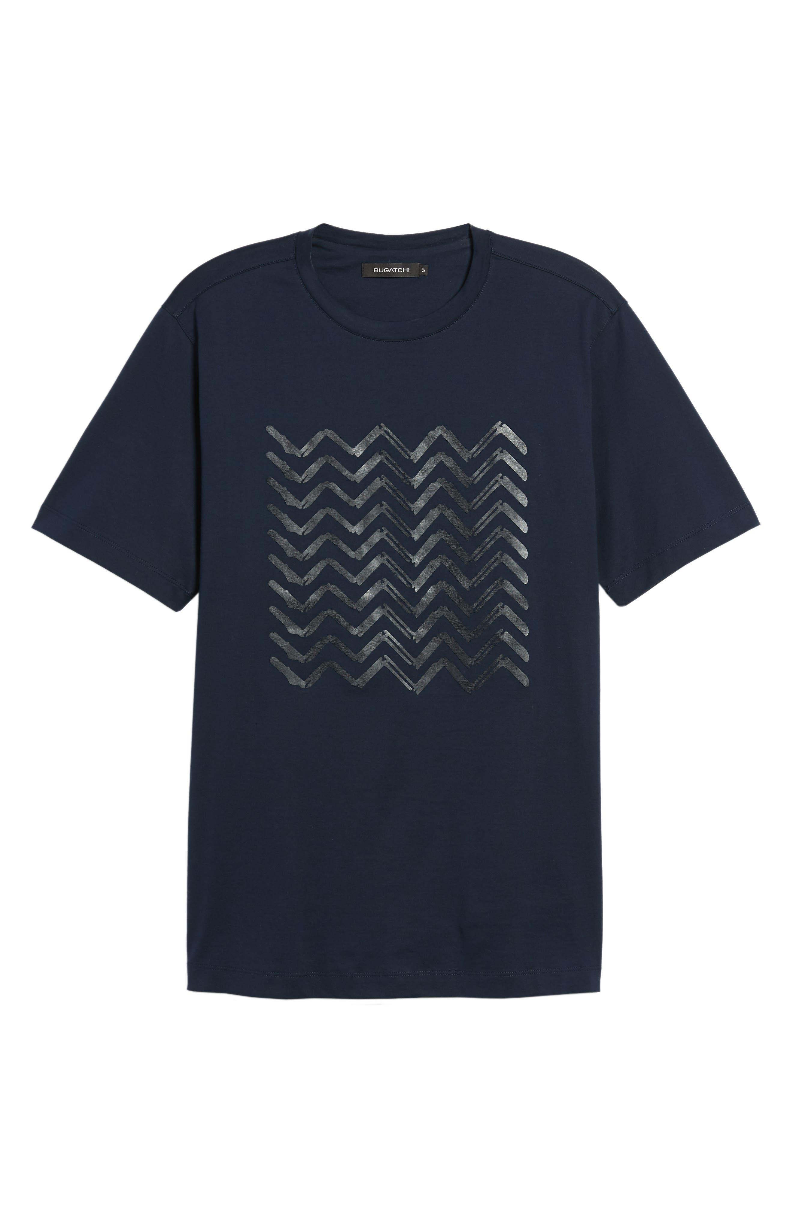 BUGATCHI,                             Crewneck T-Shirt,                             Alternate thumbnail 6, color,                             411