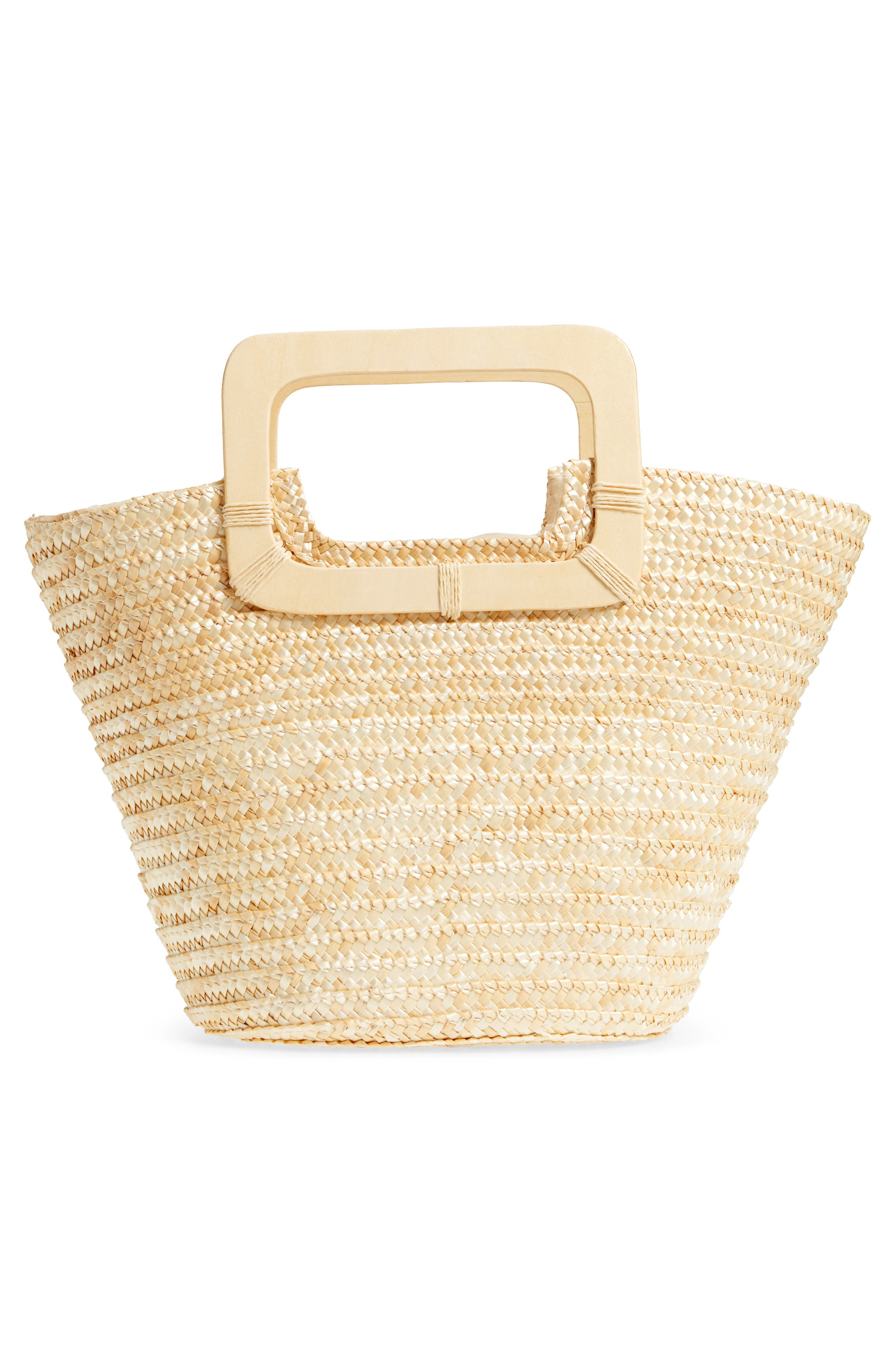 Straw Ring Handle Basket Tote,                             Alternate thumbnail 3, color,                             250