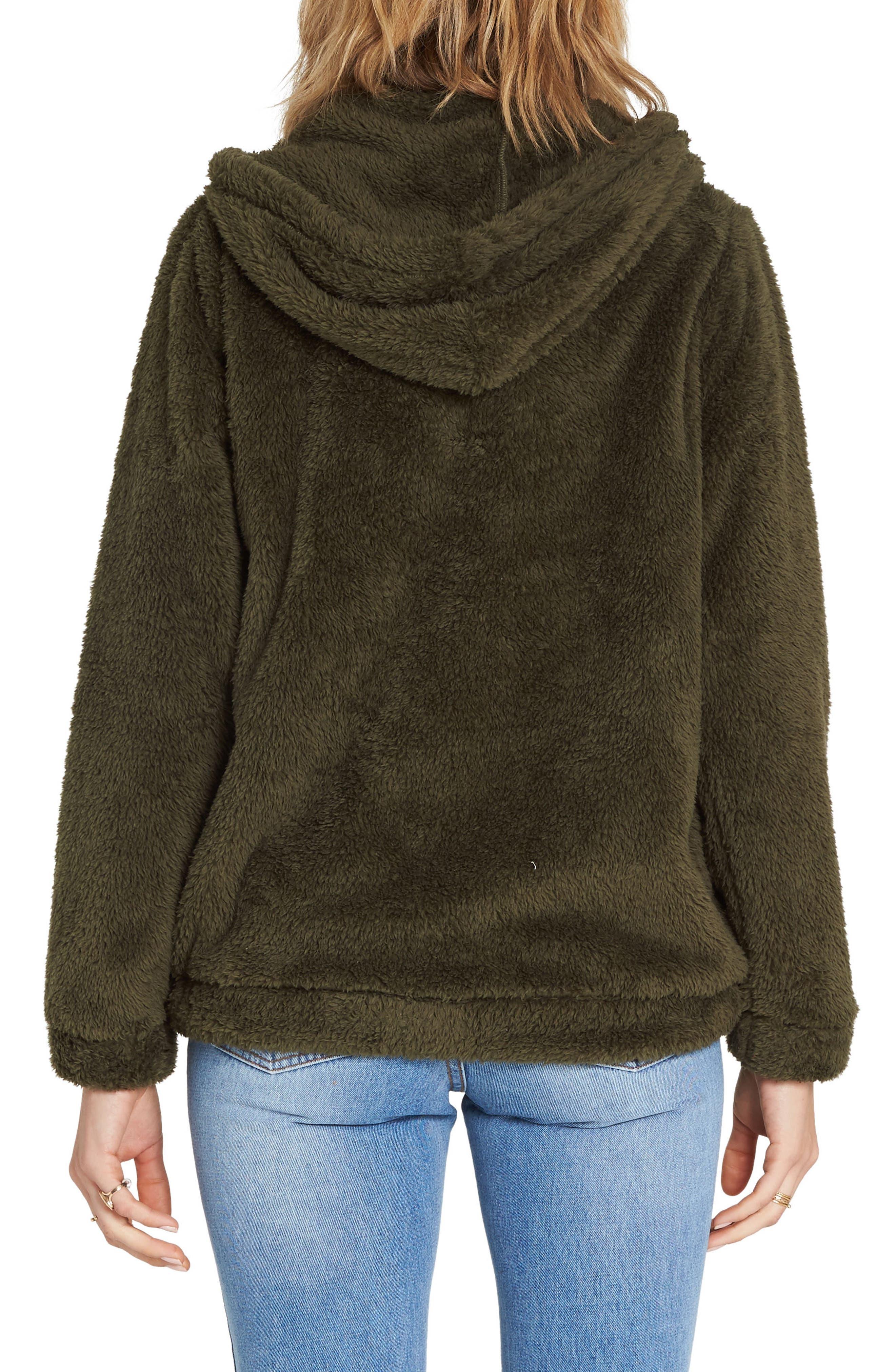 Cozy for Keeps Fleece Zip Hoodie,                             Alternate thumbnail 2, color,                             OLIVE