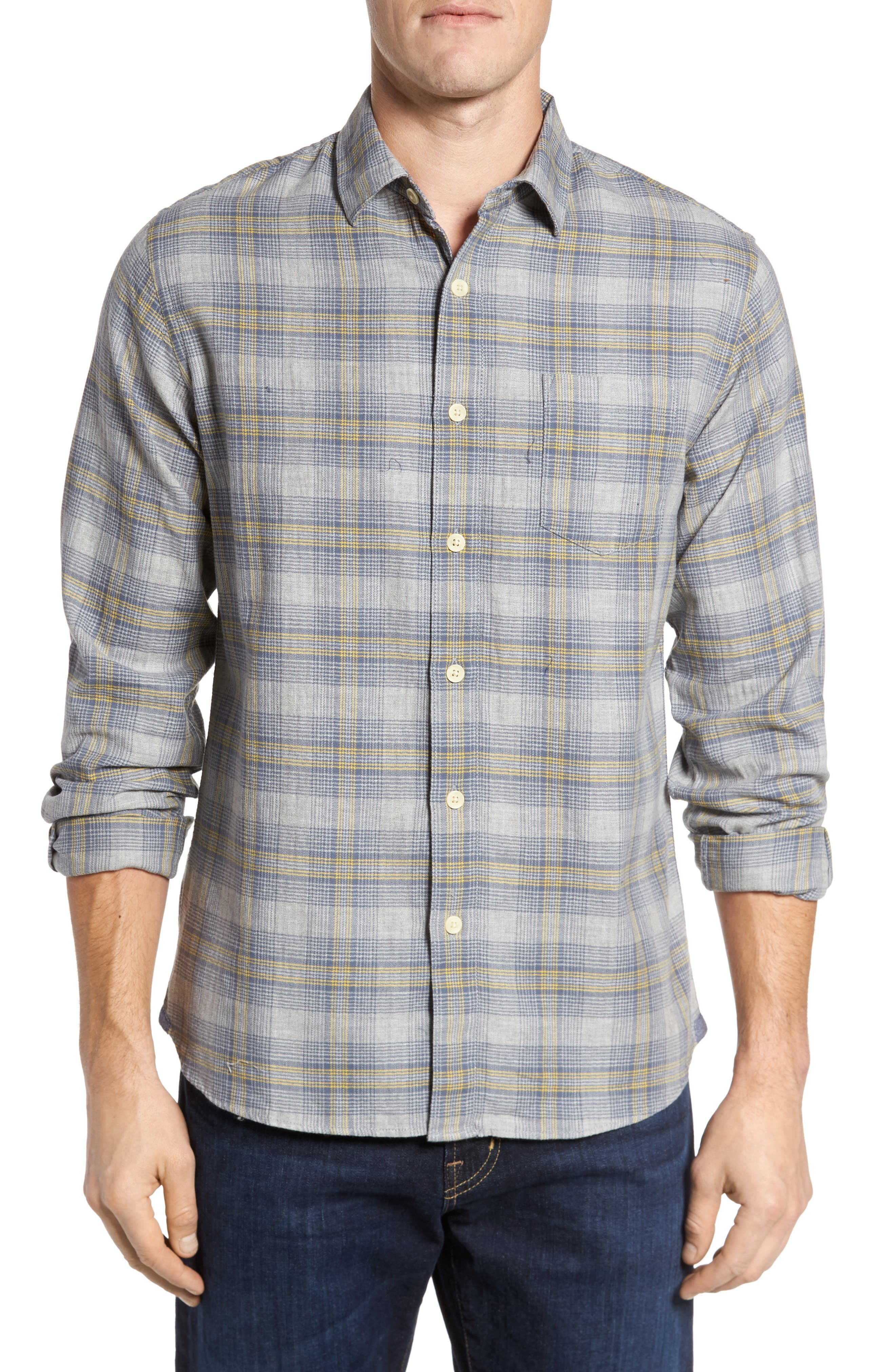 Laugna Herringbone Twill Shirt,                         Main,                         color, 032