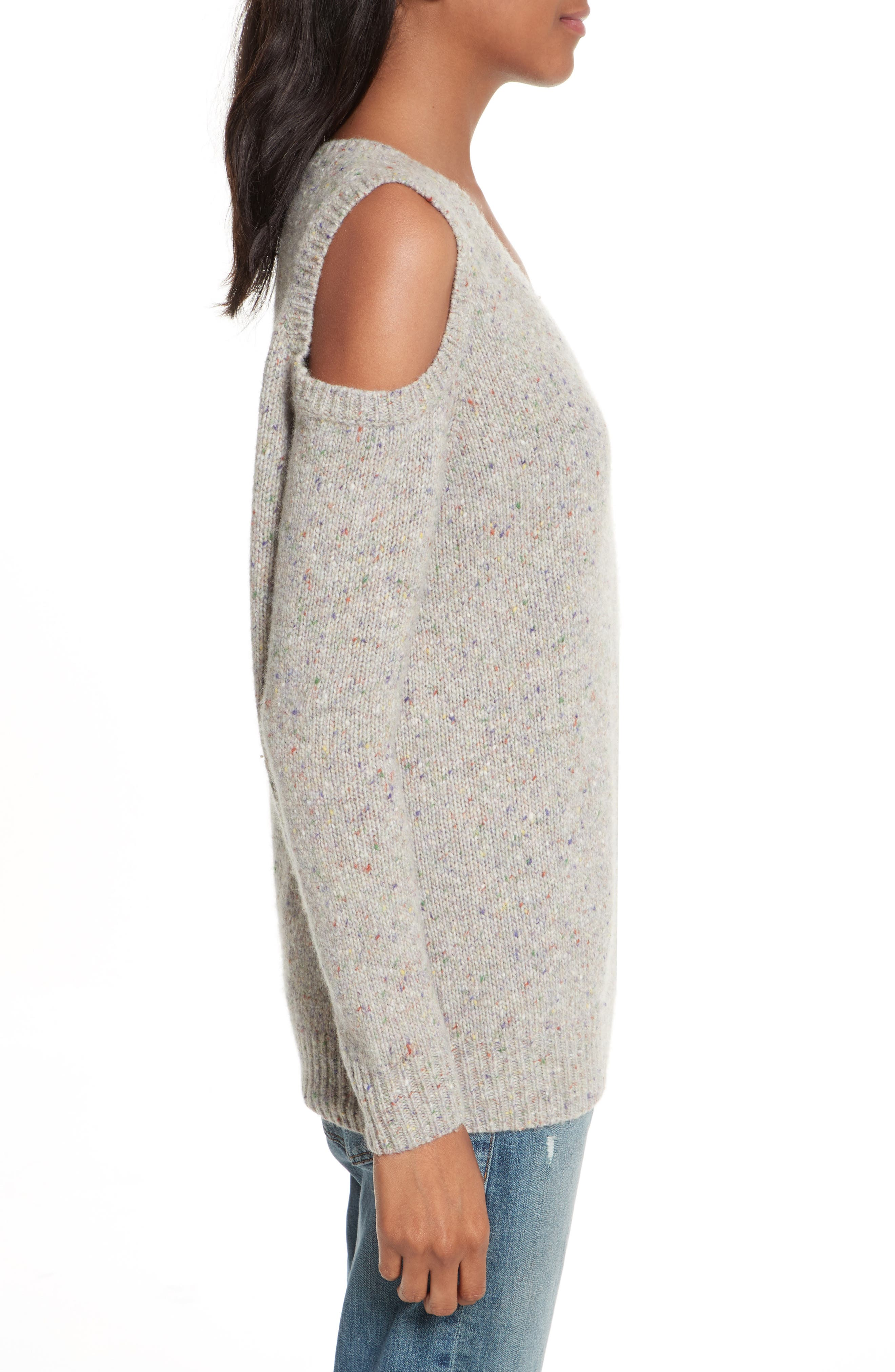 Page Cold Shoulder Sweater,                             Alternate thumbnail 17, color,