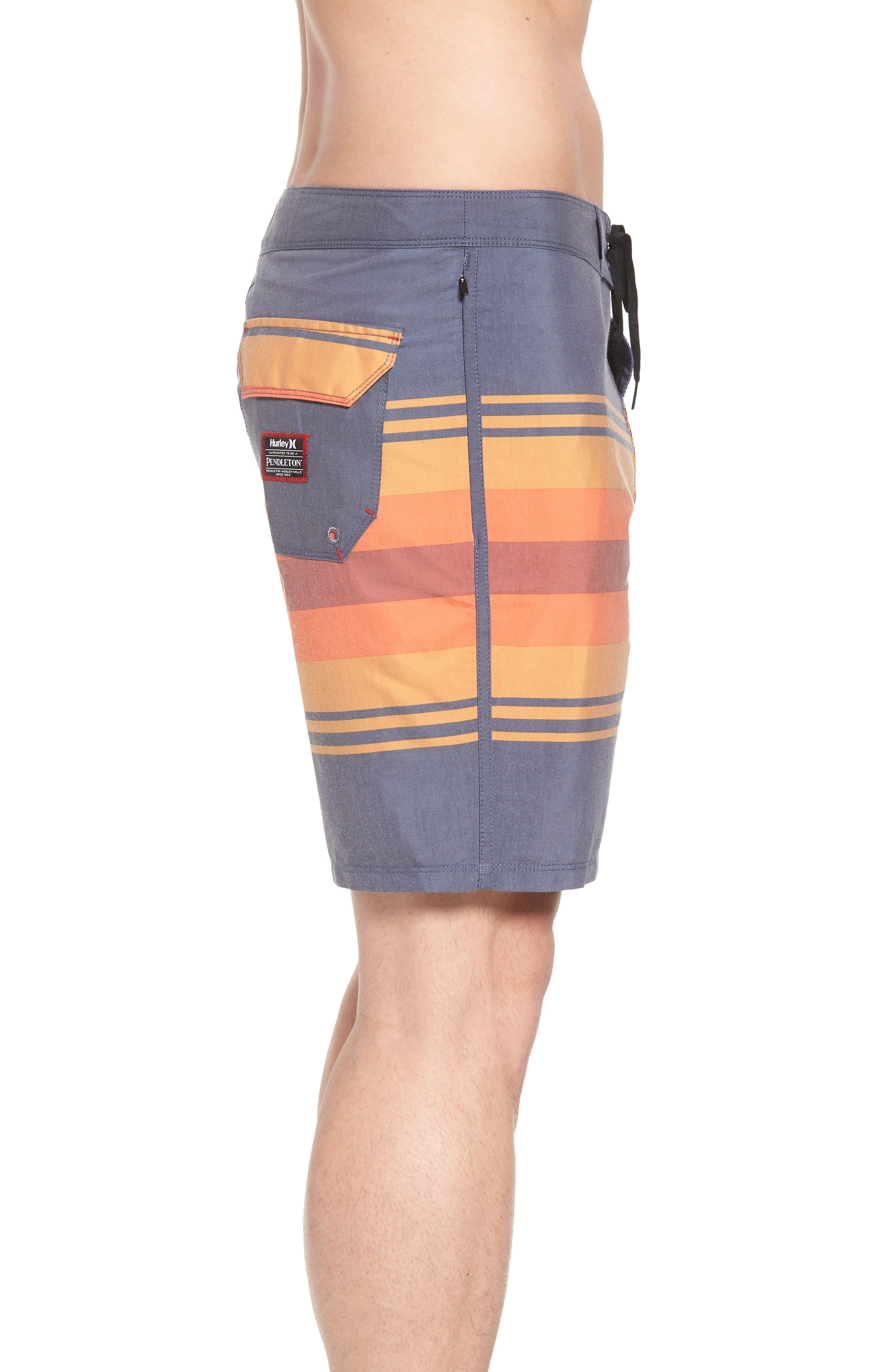 Pendleton Grand Canyon Beachside Board Shorts,                             Alternate thumbnail 3, color,