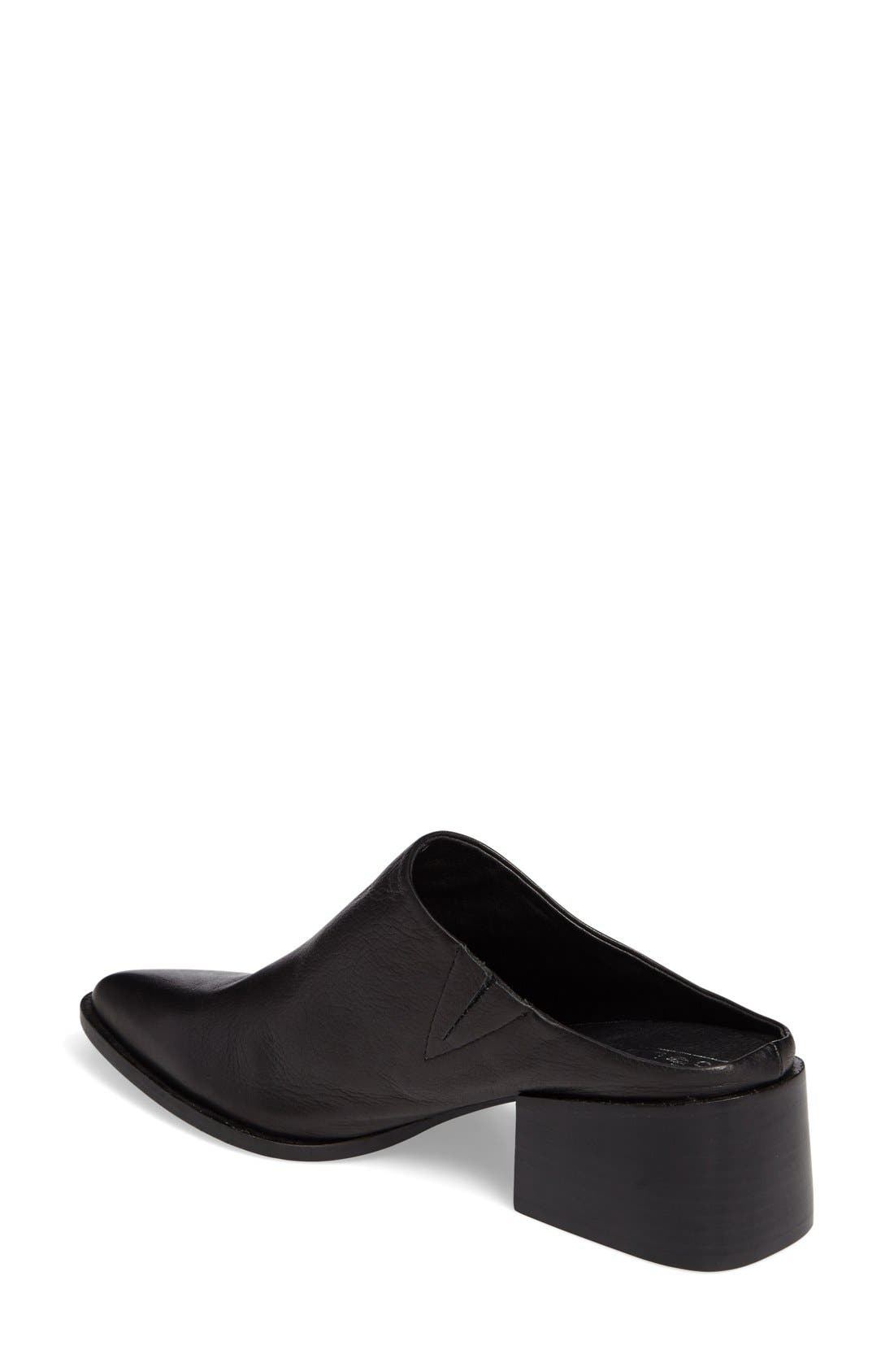 Camille Pointy Toe Mule,                             Alternate thumbnail 2, color,                             001