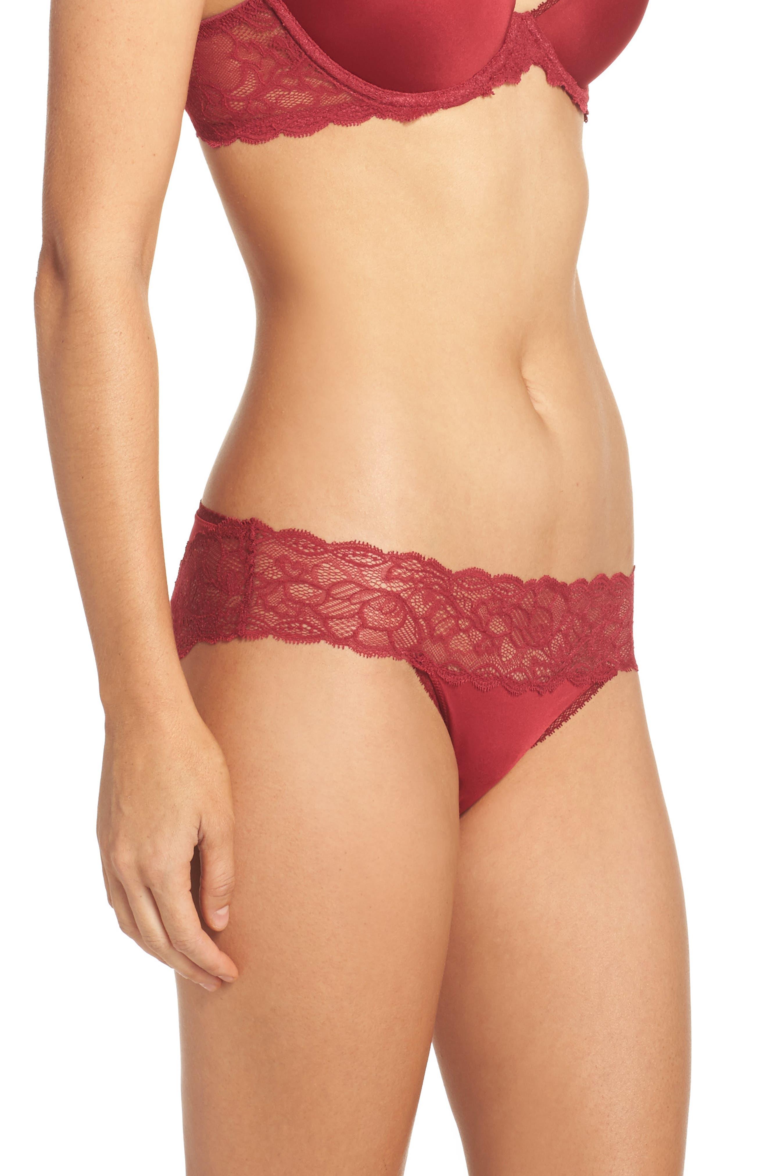 Seductive Comfort Lace Bikini,                             Alternate thumbnail 3, color,                             605