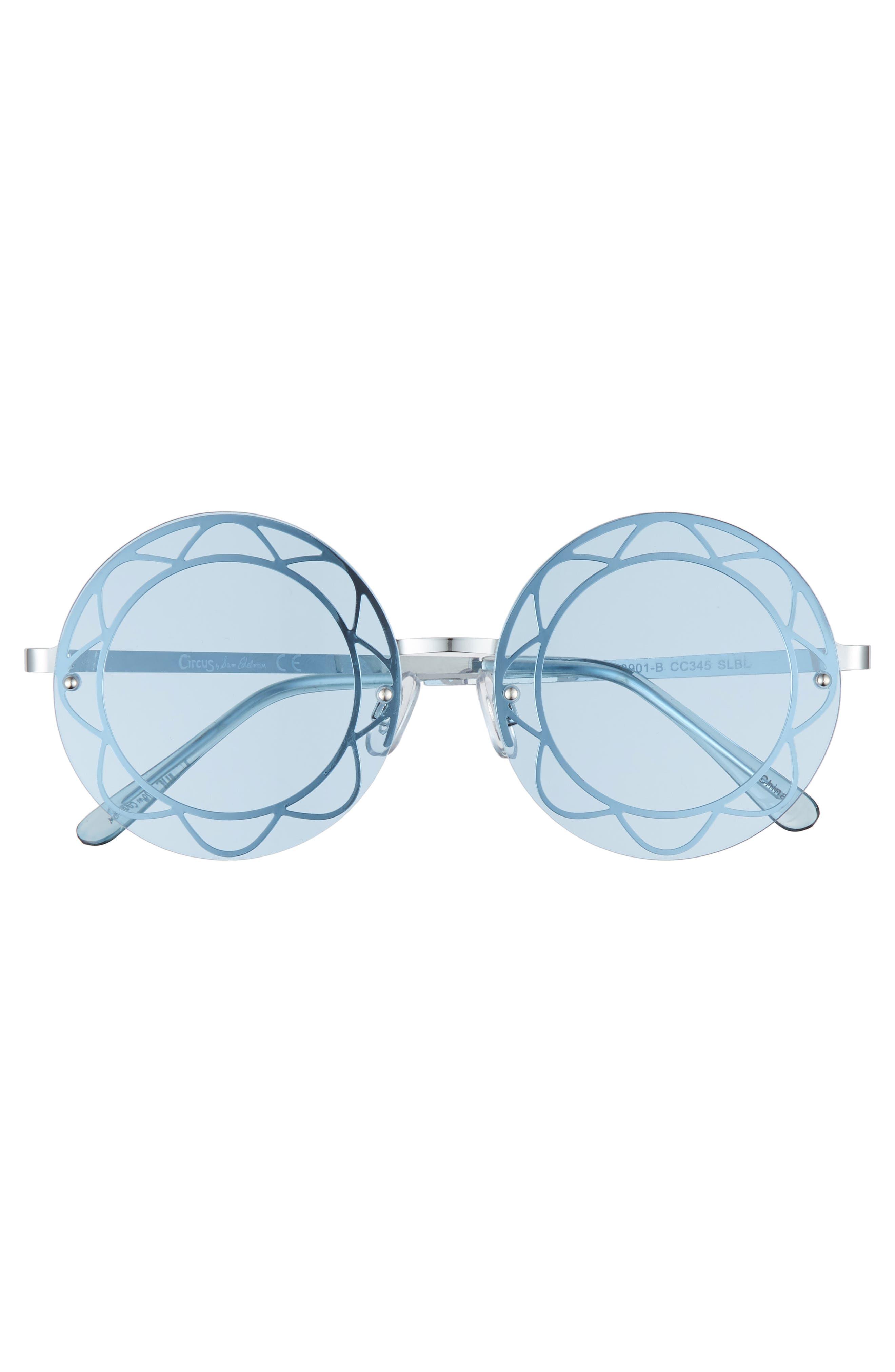 55mm Round Sunglasses,                             Alternate thumbnail 3, color,                             047