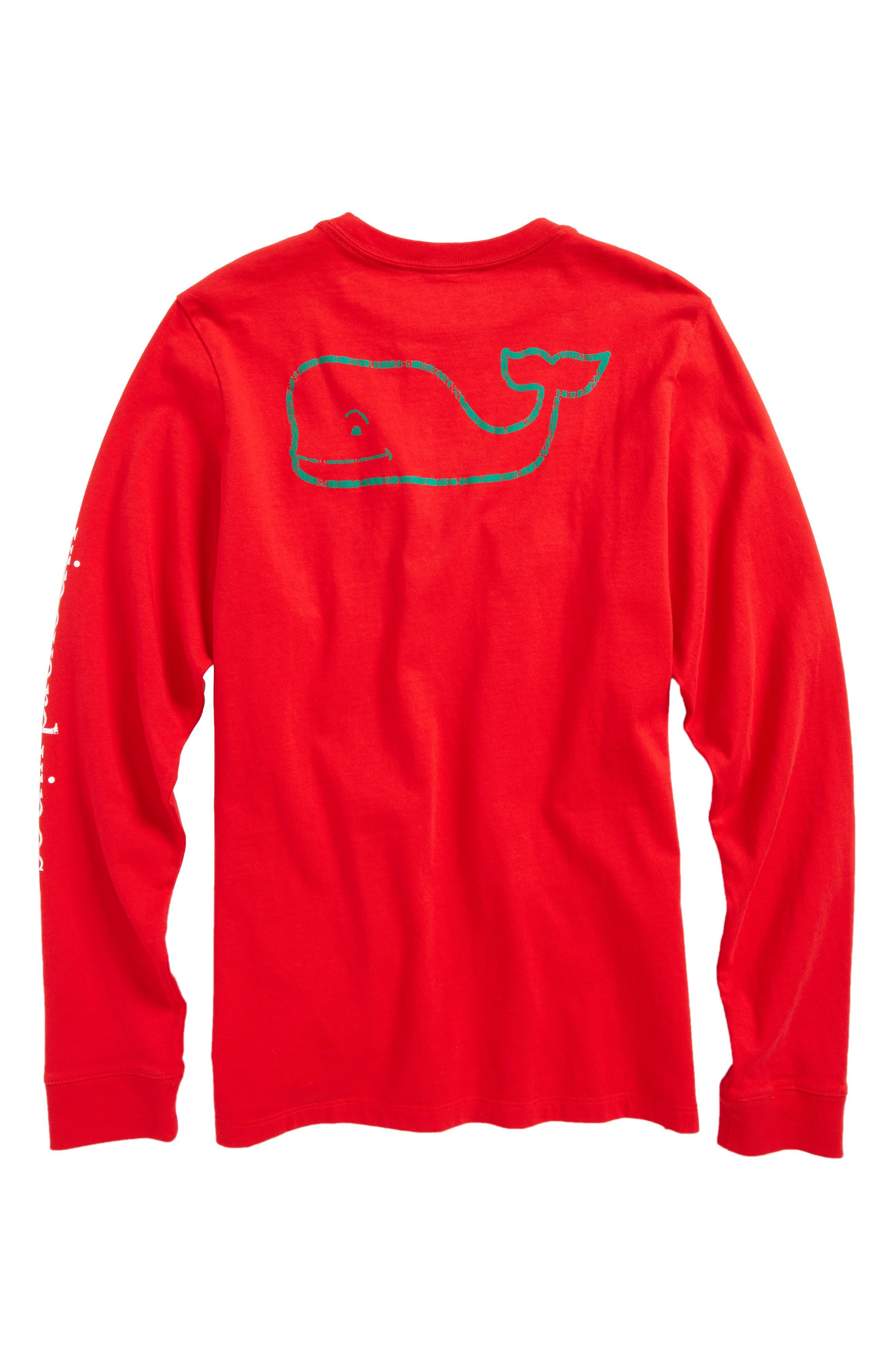 Vintage Whale Long Sleeve Pocket T-Shirt,                             Alternate thumbnail 10, color,