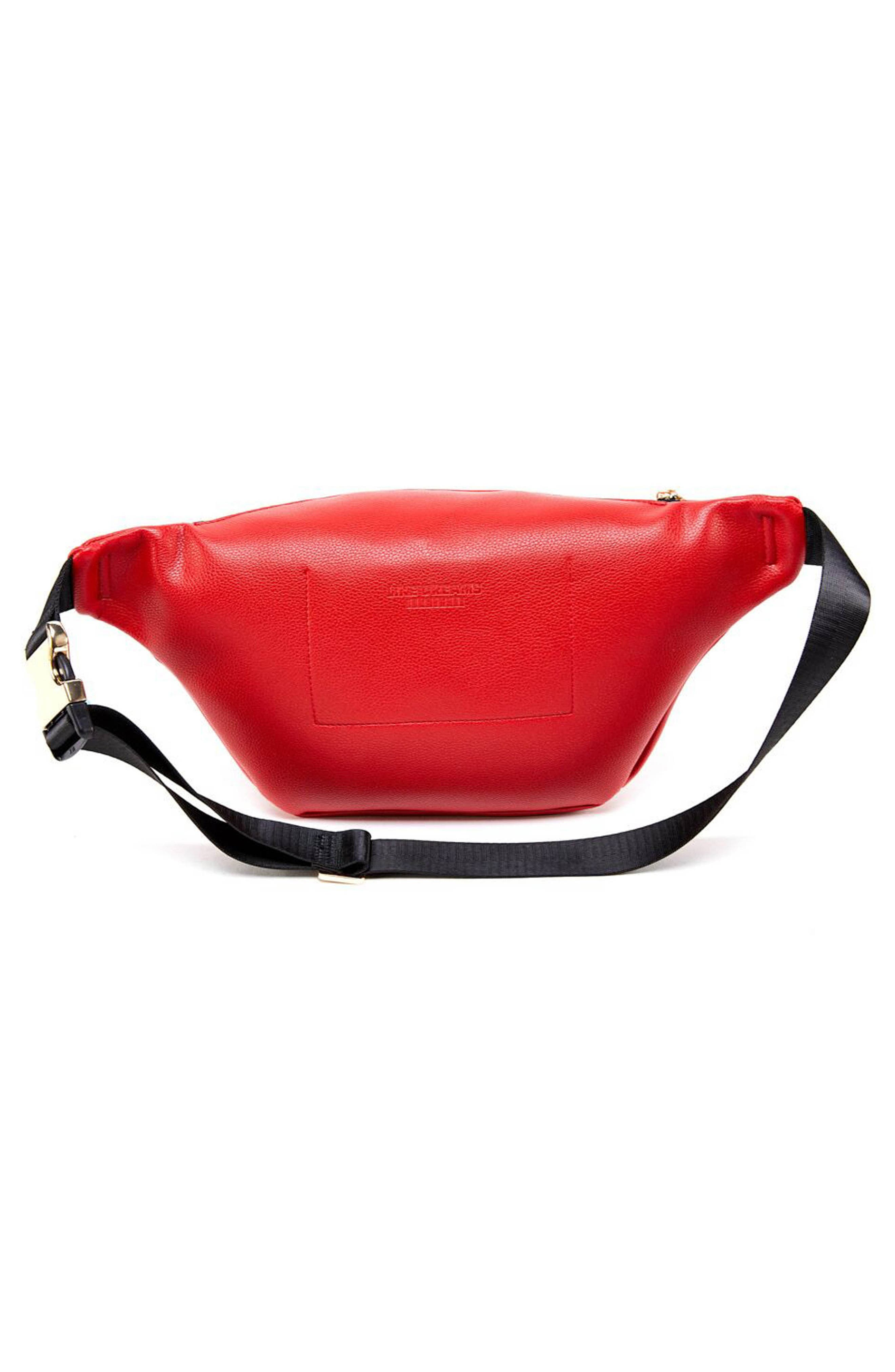 Faux Leather Belt Bag,                             Alternate thumbnail 2, color,                             RED