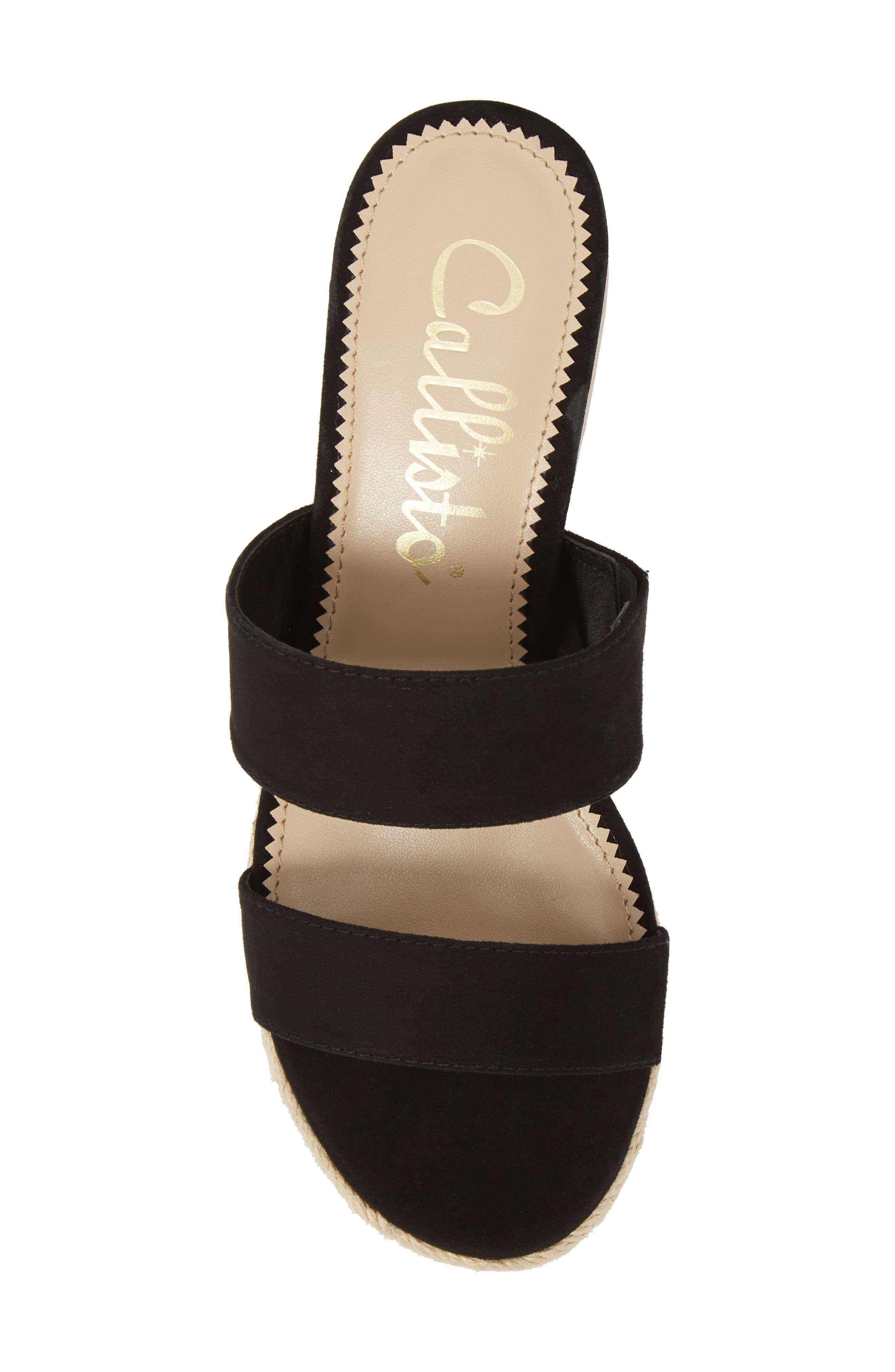 Foundation Platform Slide Sandal,                             Alternate thumbnail 5, color,                             BLACK SUEDE